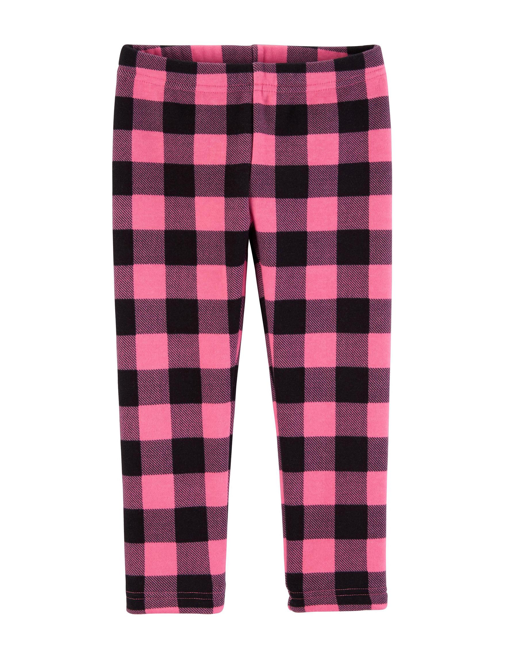 Carter's Pink Plaid Leggings