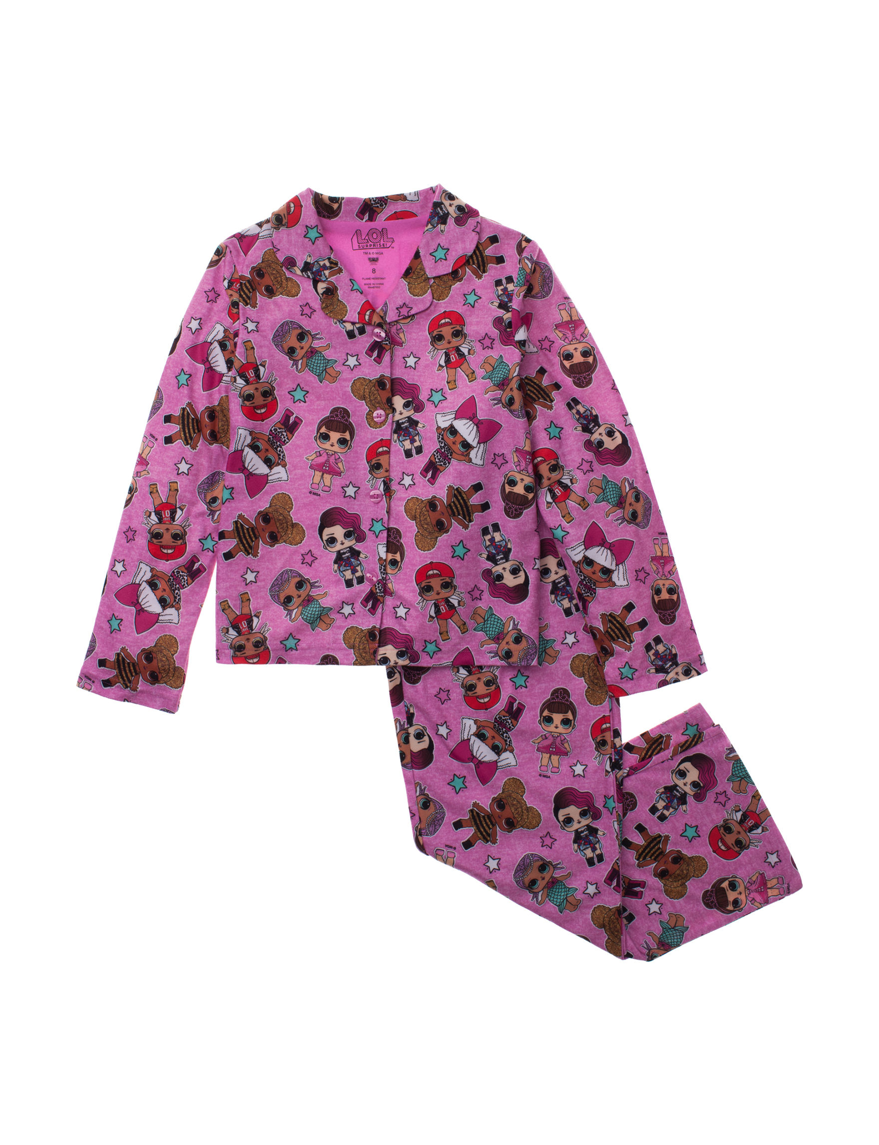 Licensed Pink Multi Pajama Sets
