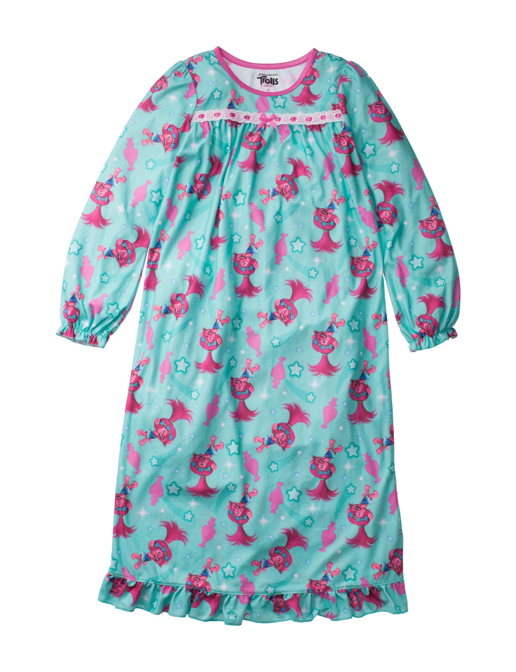 Licensed Aqua / Pink Nightgowns & Sleep Shirts