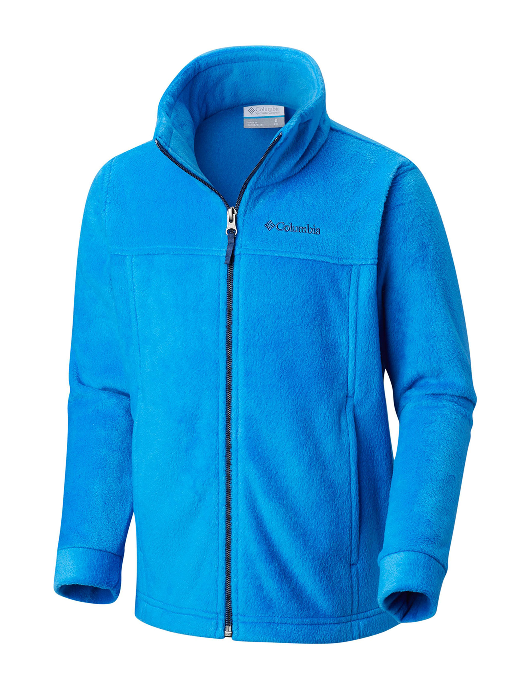 Columbia Blue Fleece & Soft Shell Jackets