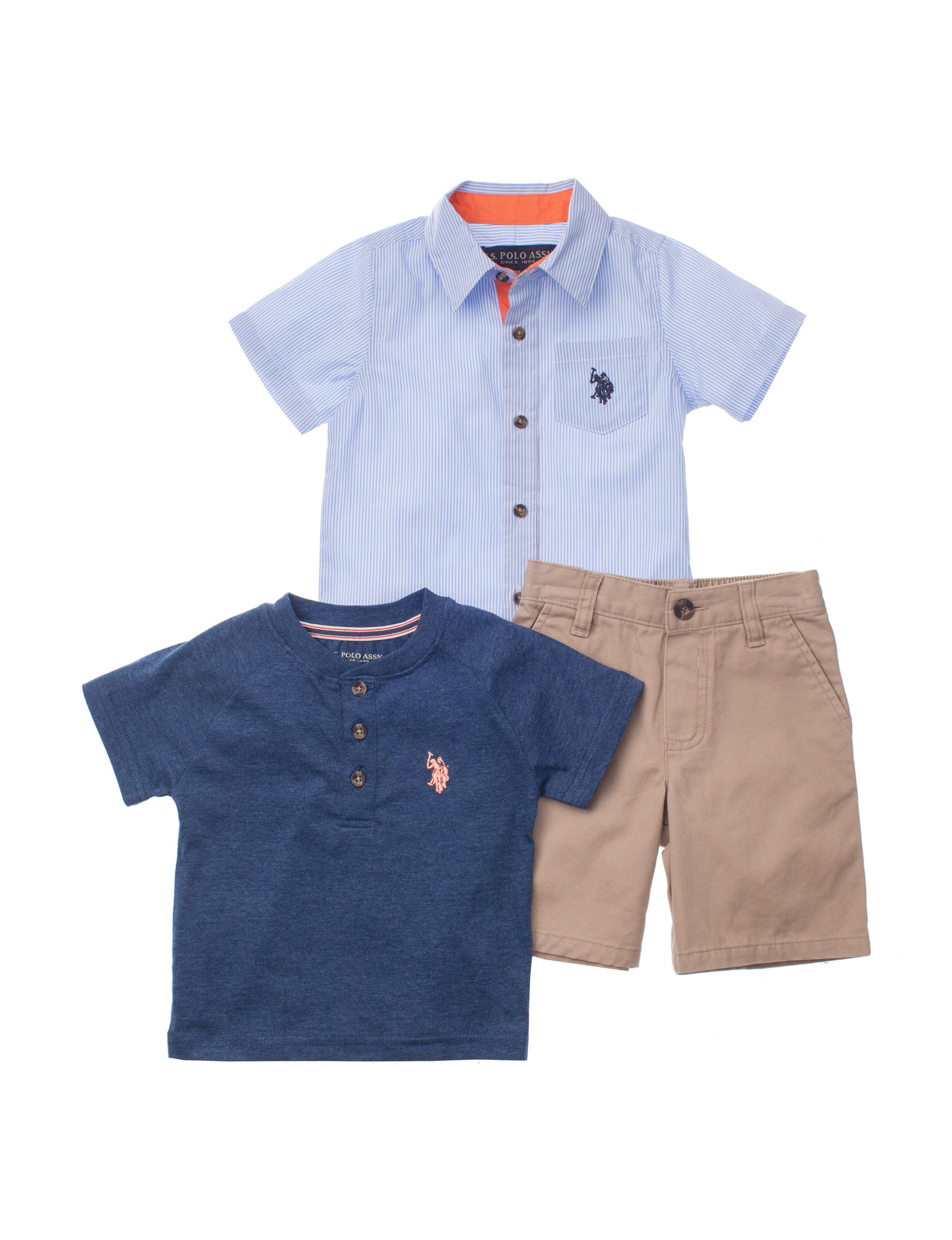 U.S. Polo Assn. Blue / White