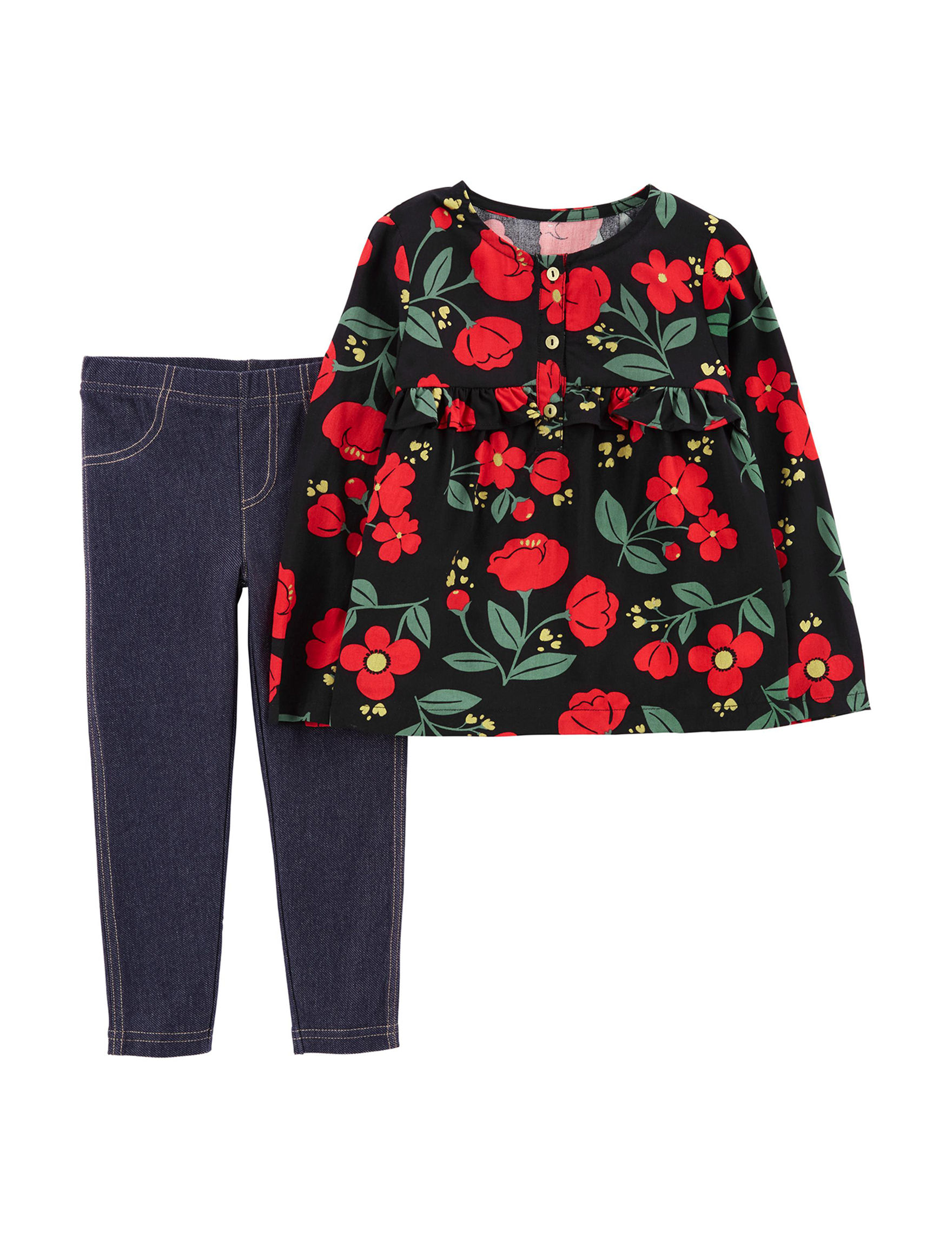 Carter's Red Floral