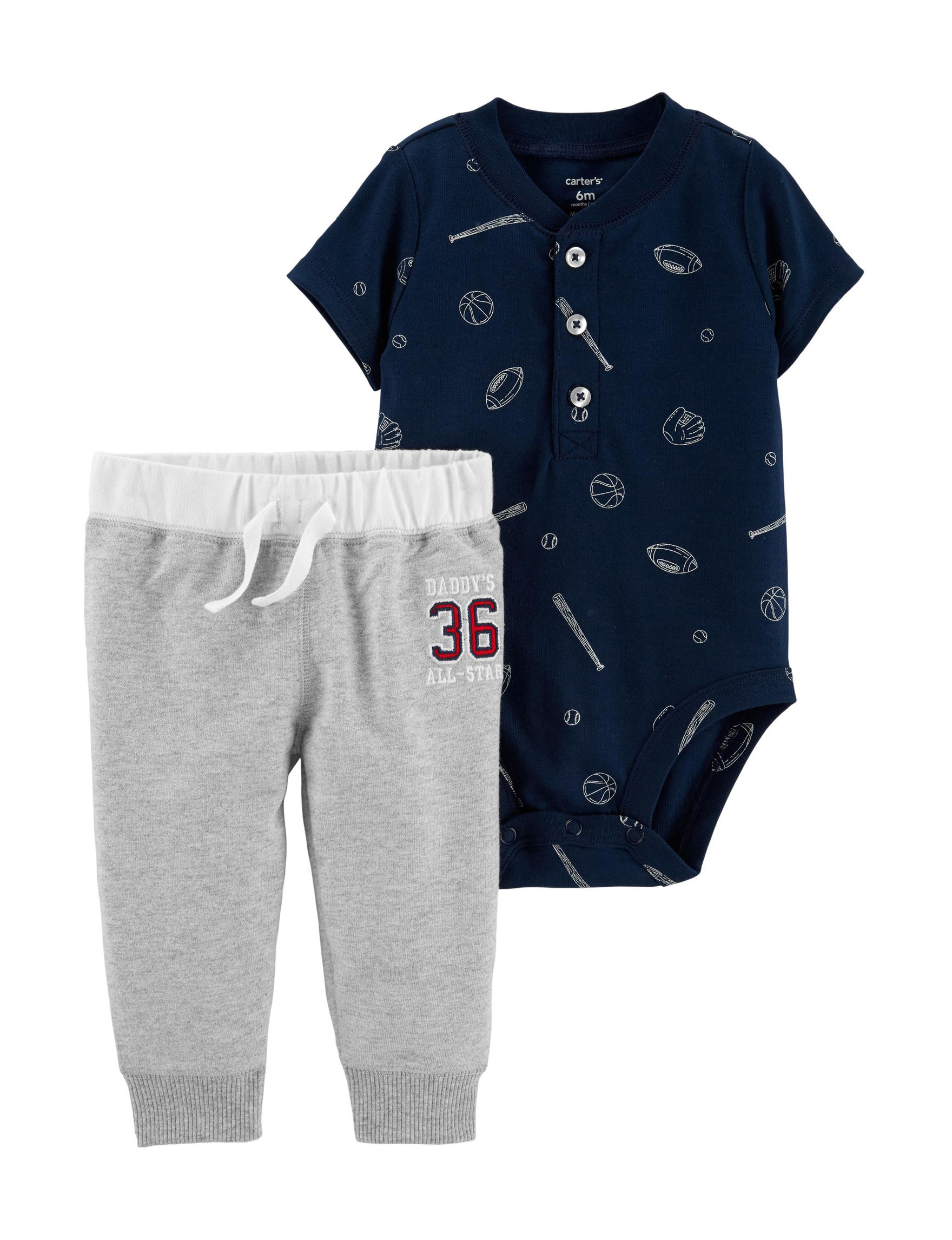 Carter's Navy / Grey