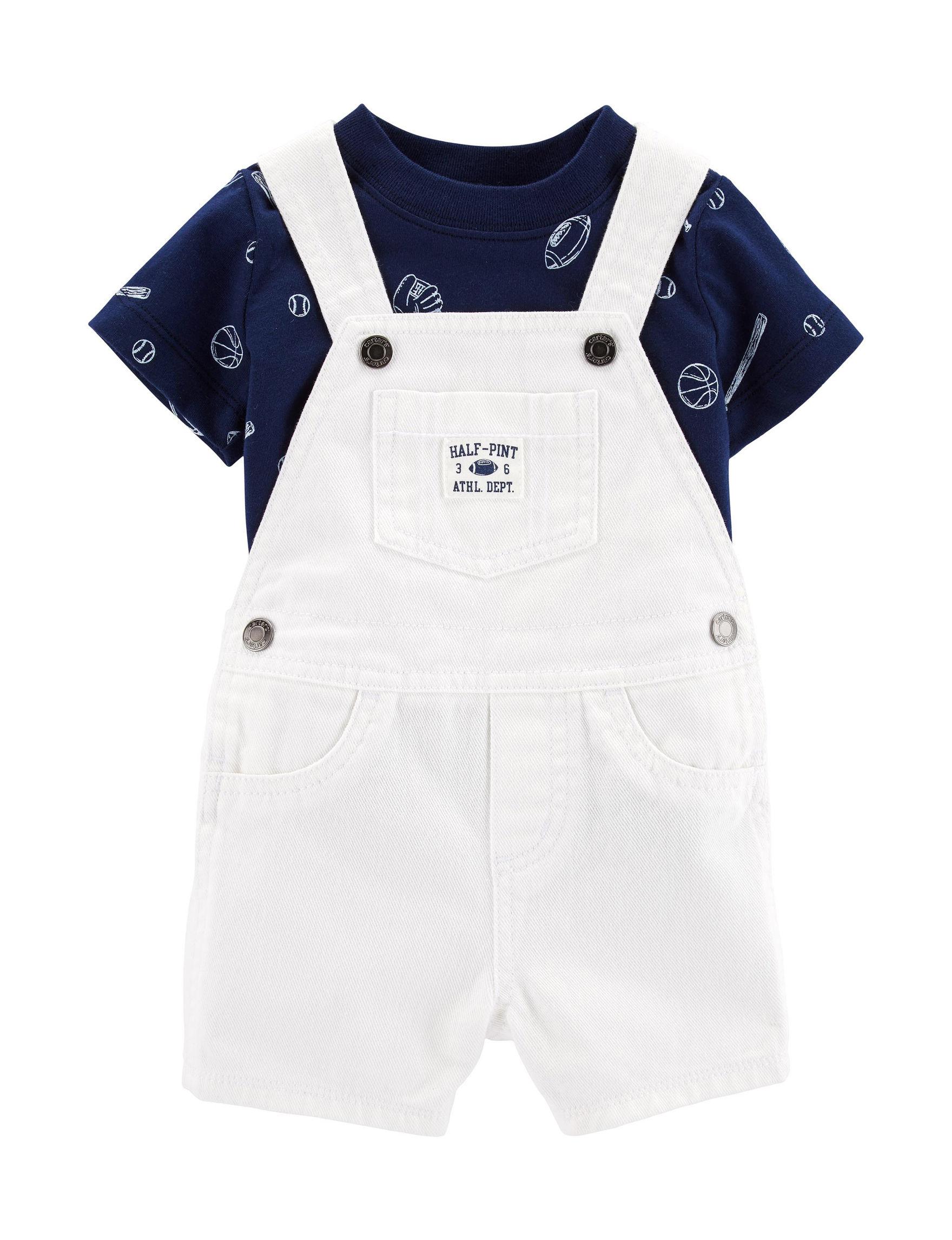 Carter's White / Navy