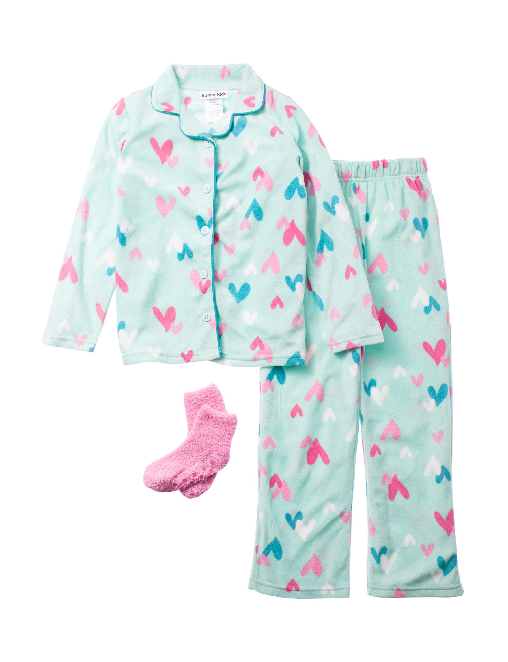Komar Kids Mint Pajama Sets