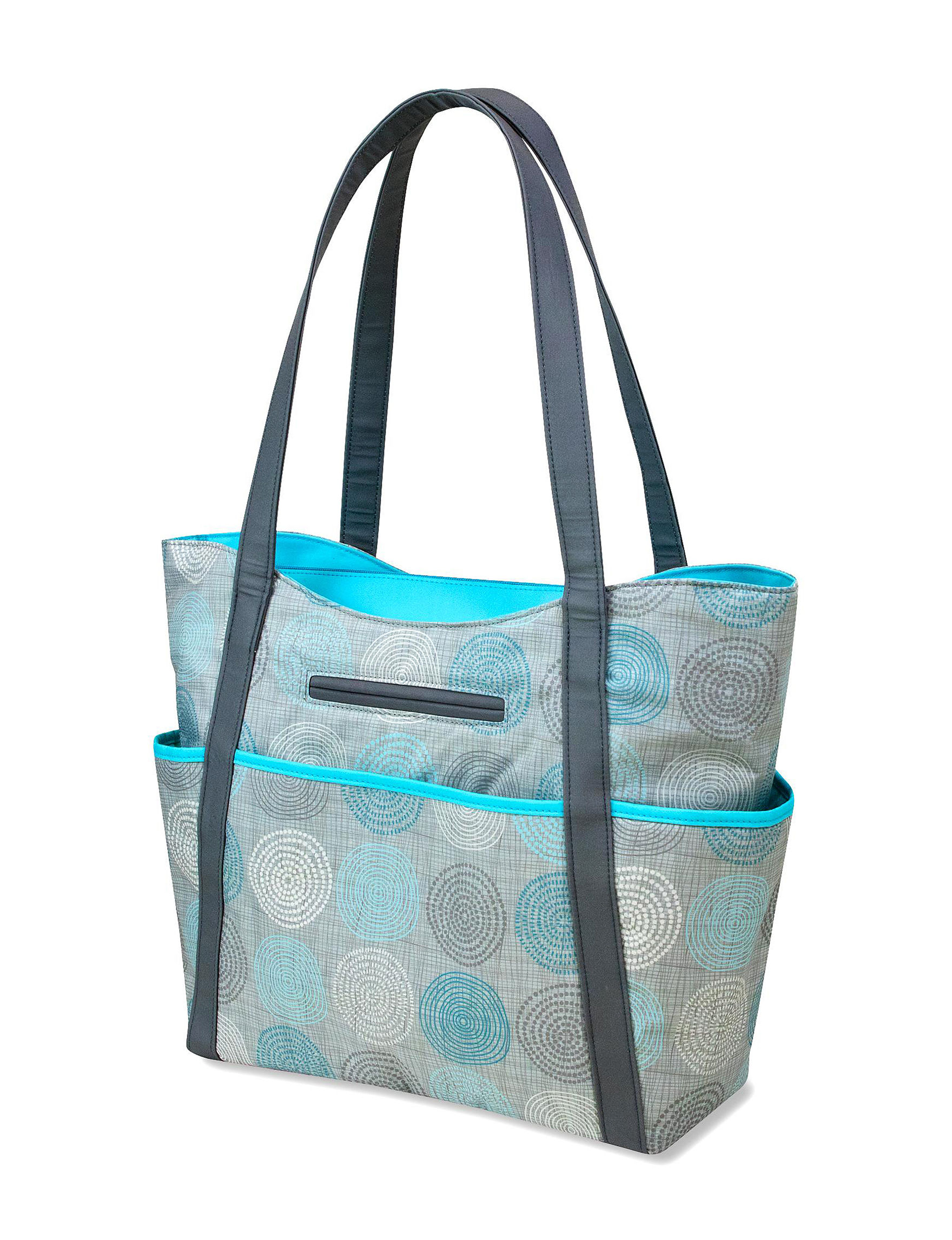 Tender Kisses Turquoise / Grey Diaper Bags