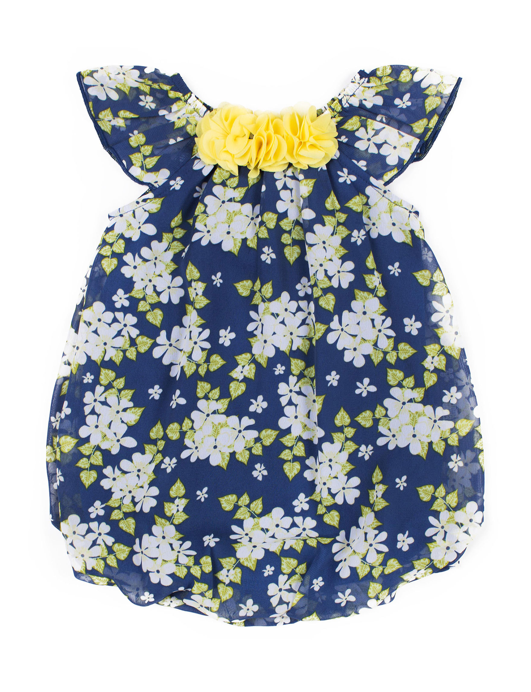 Little Lass Navy Floral