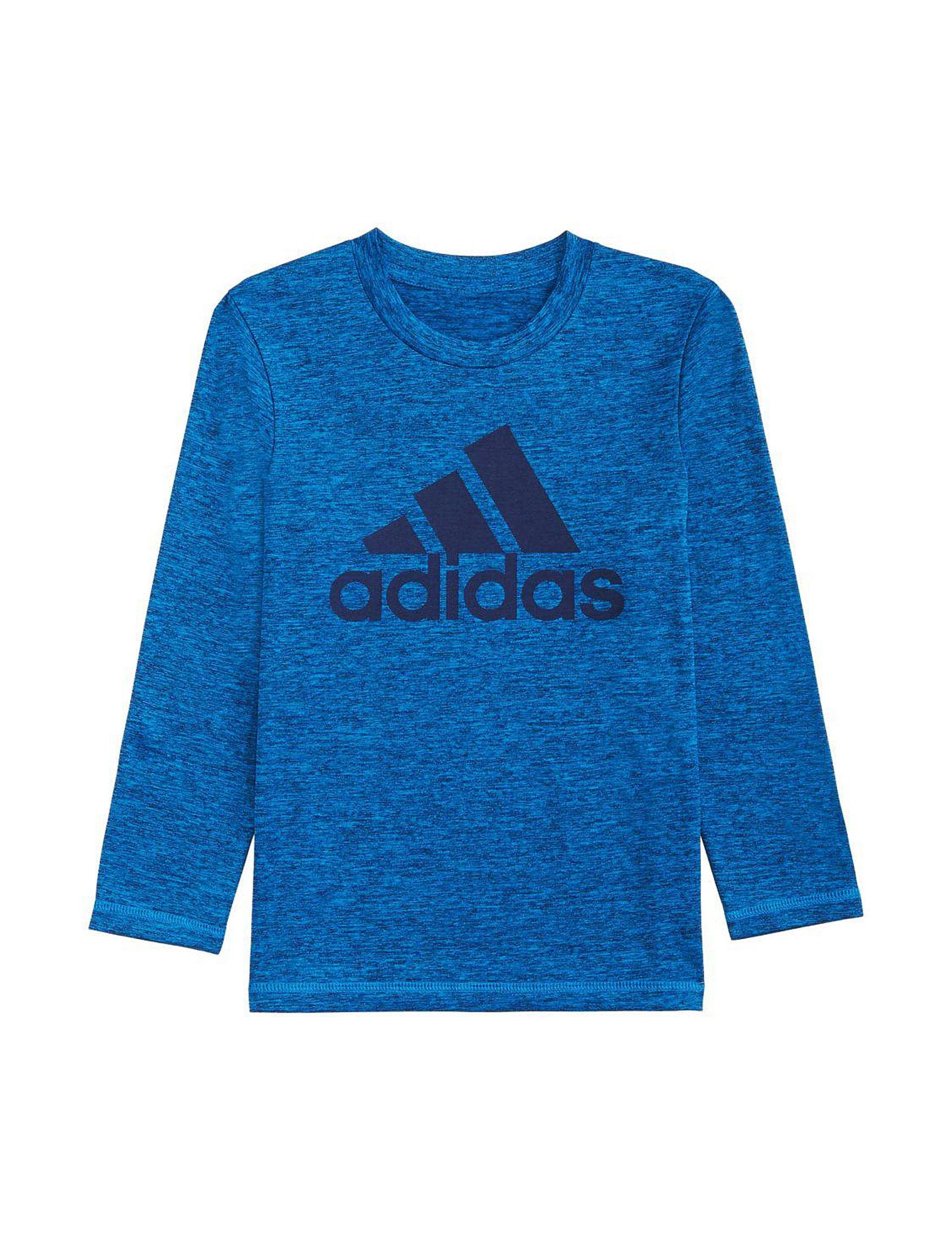 Adidas Heather Blue Tees & Tanks