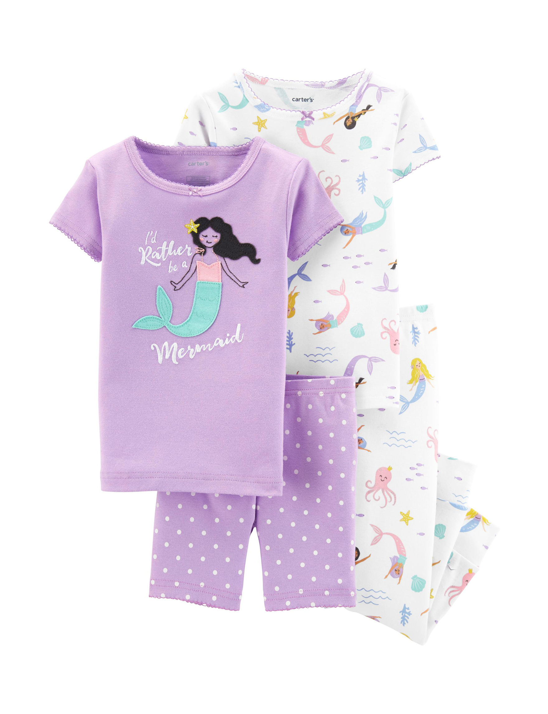 Carter's Purple / White Pajama Sets