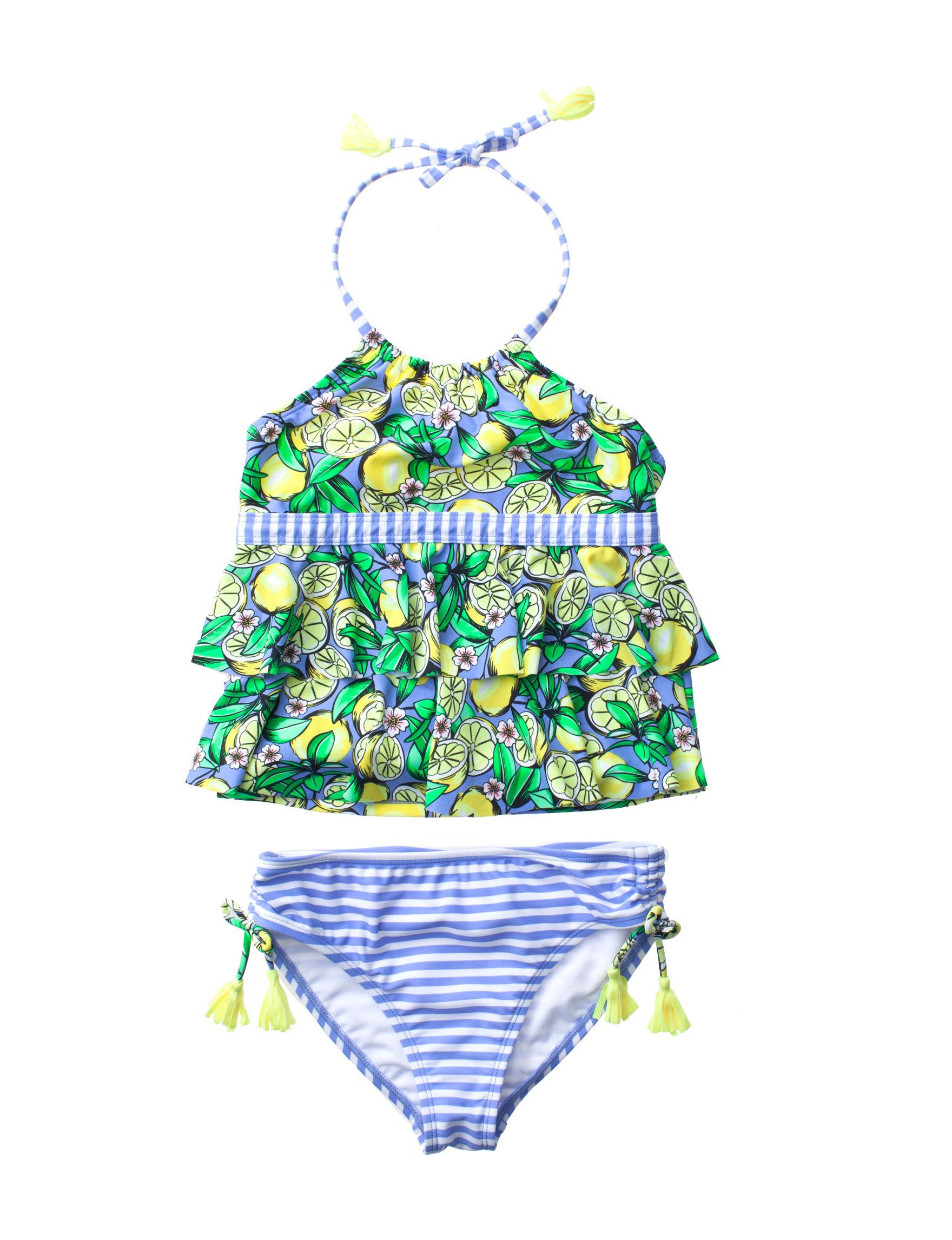 2c0c677a37a77 Angel Beach 2-pc. Citrus Crush Tankini Swim Set - Girls 7-16 | Stage ...