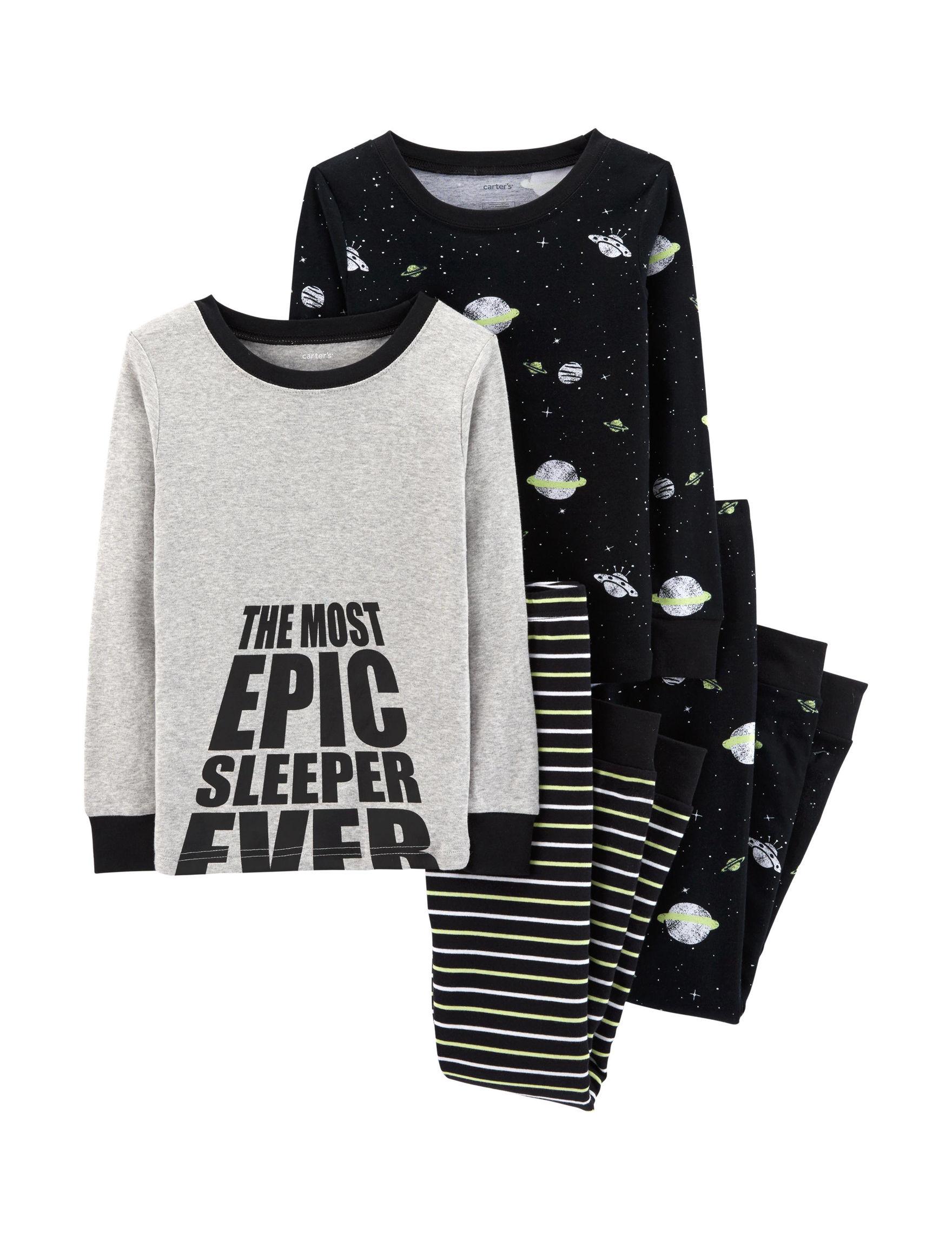Carter's Black / Grey Pajama Sets