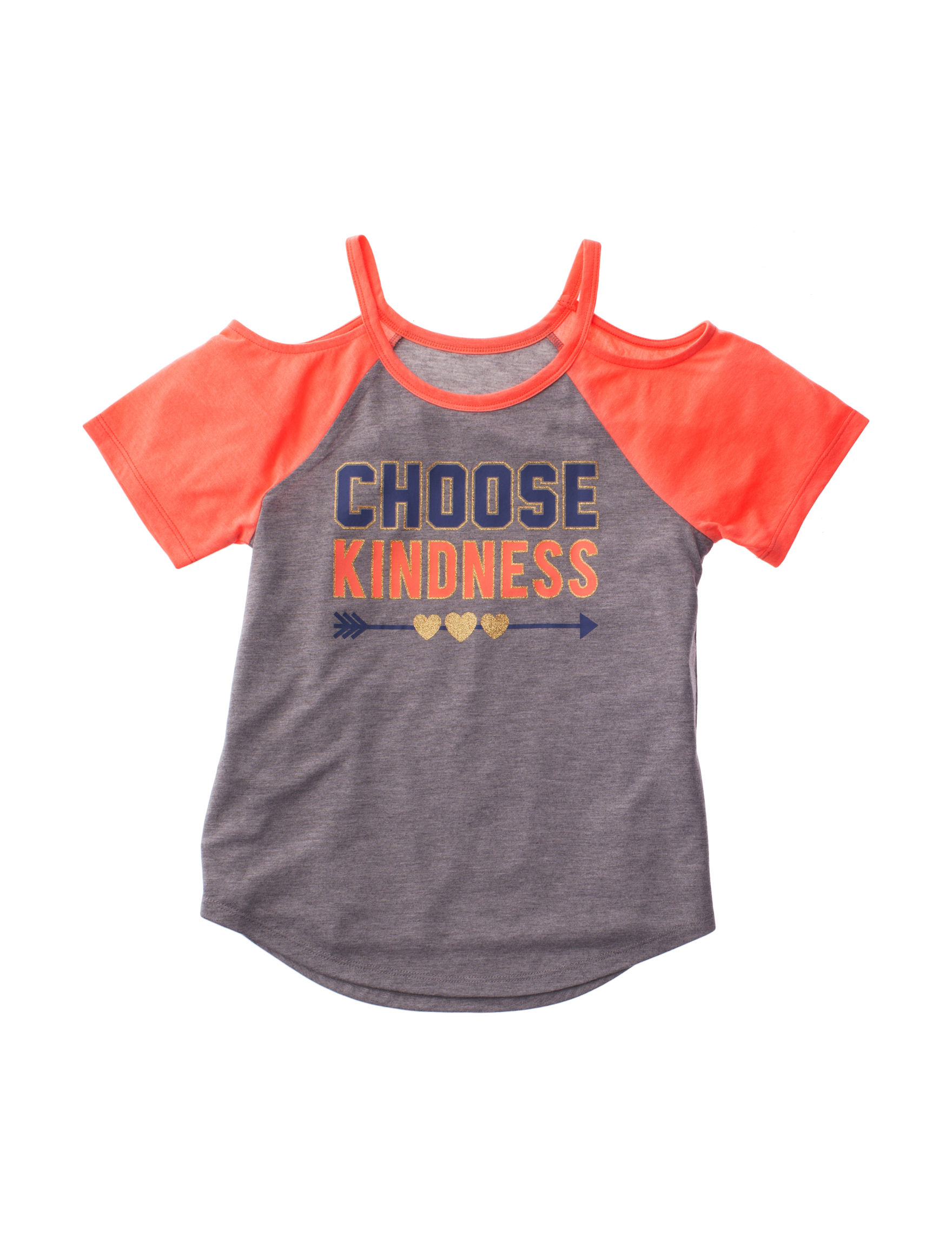Modern Lux Grey / Orange Tees & Tanks