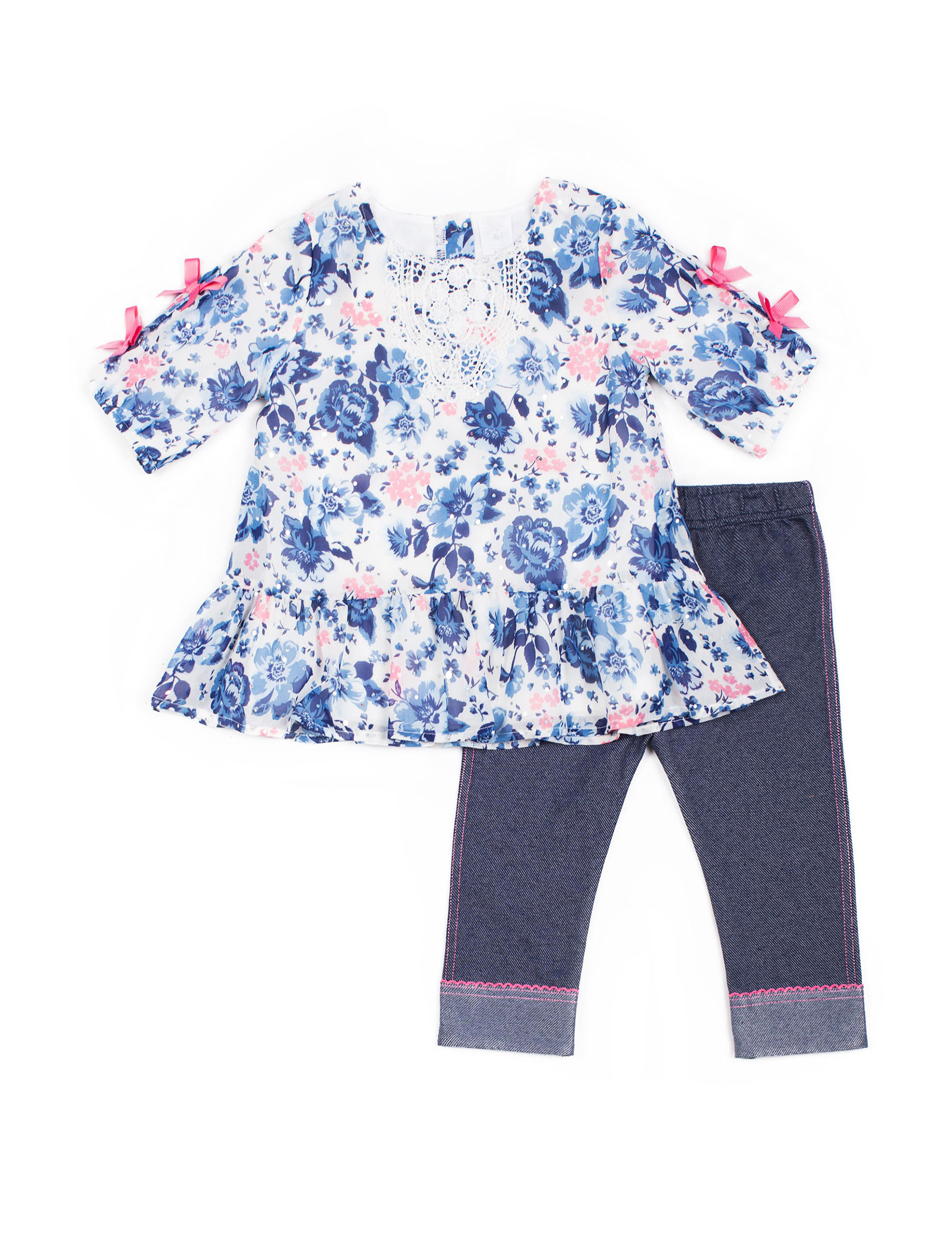 Little Lass Blue Floral