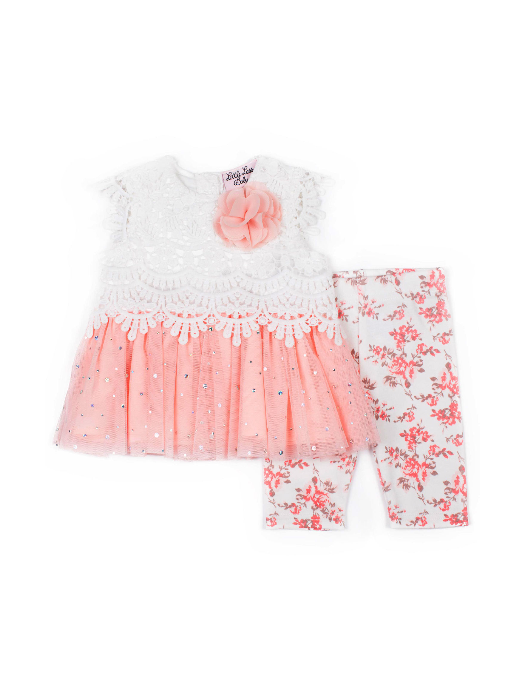 Little Lass White / Pink Floral
