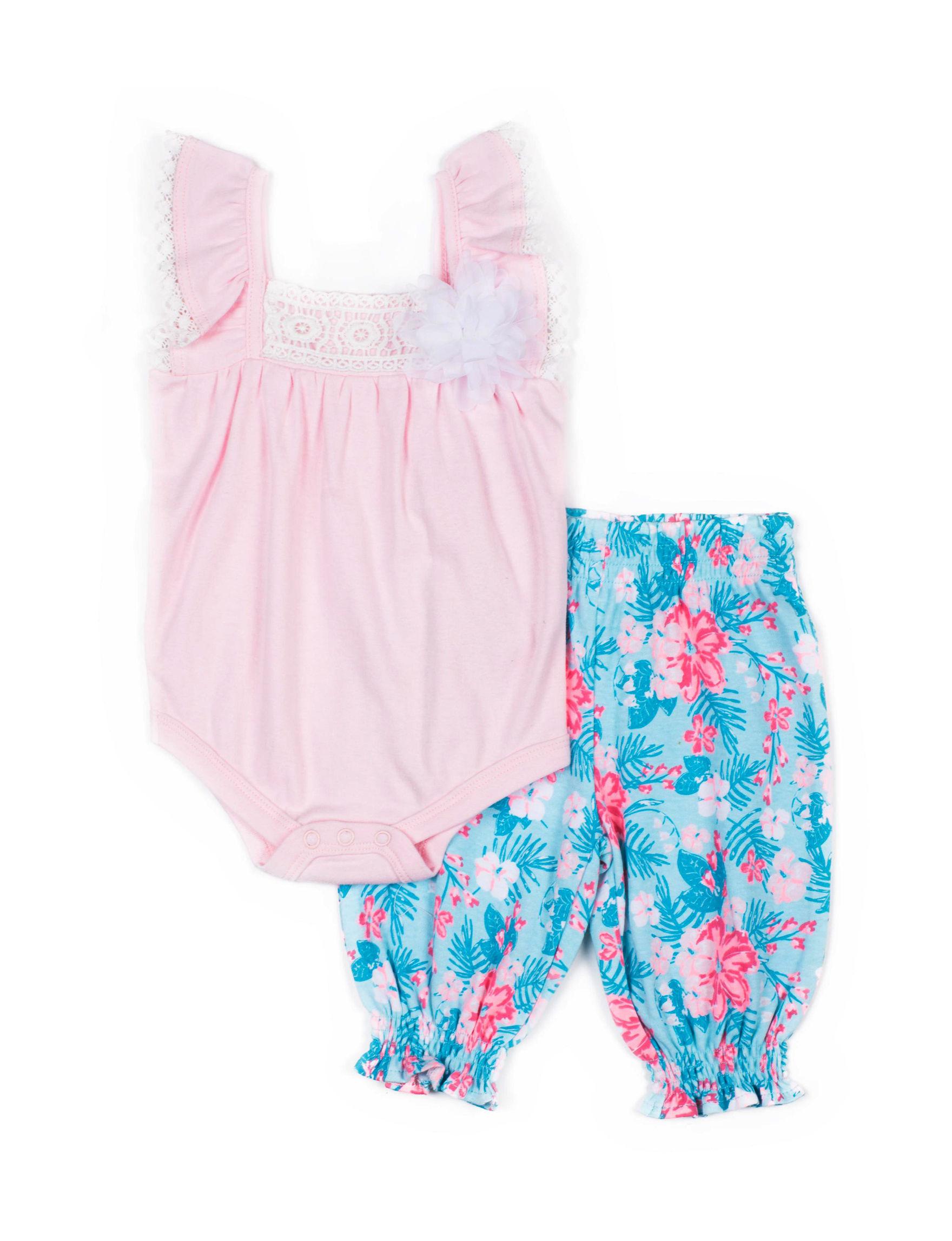 Little Lass Pink / Blue Floral