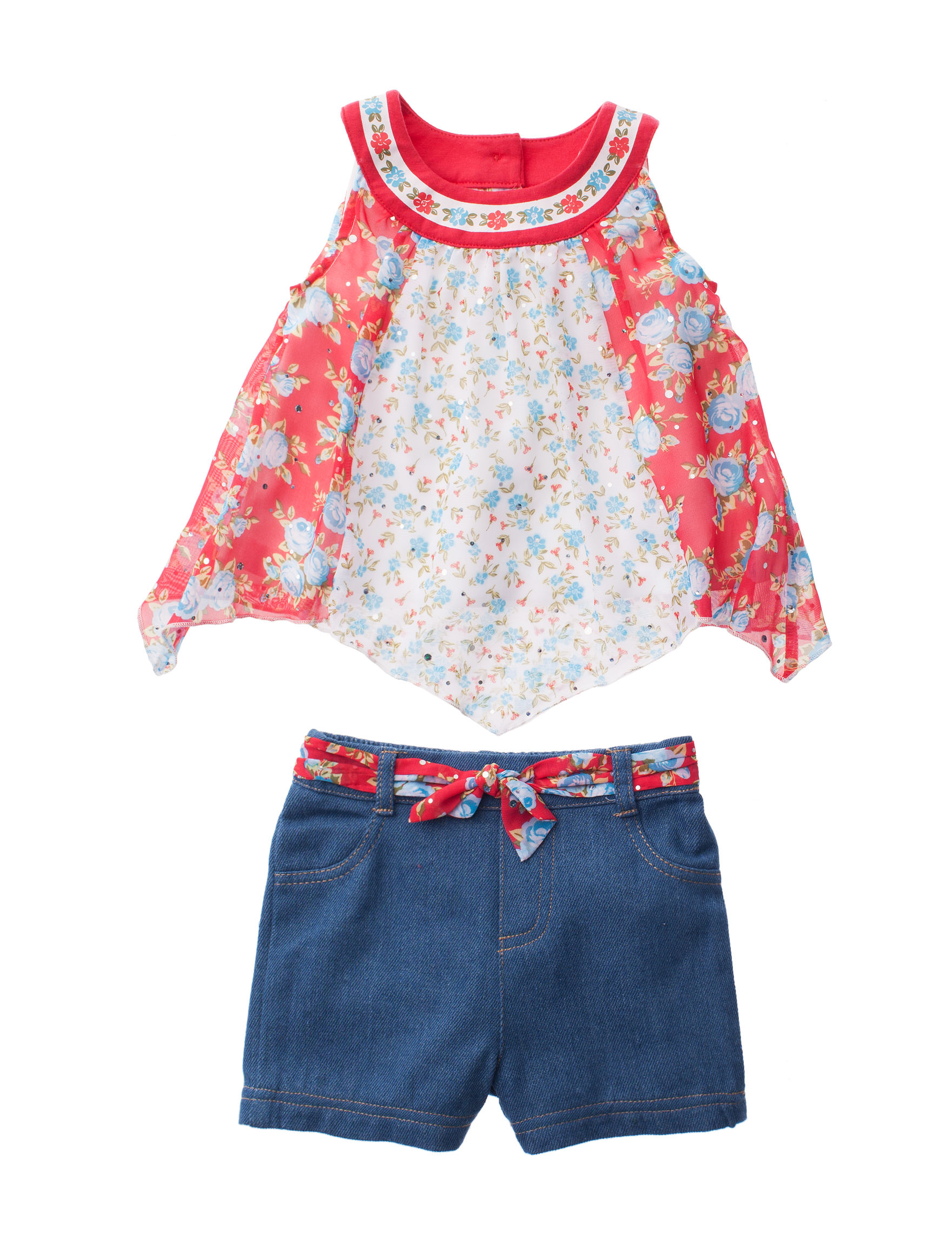 Little Lass Red Floral