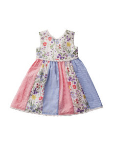 50bf8b24 Blueberi Boulevard Striped Floral Quilt Dress - Toddlers & Girls ...