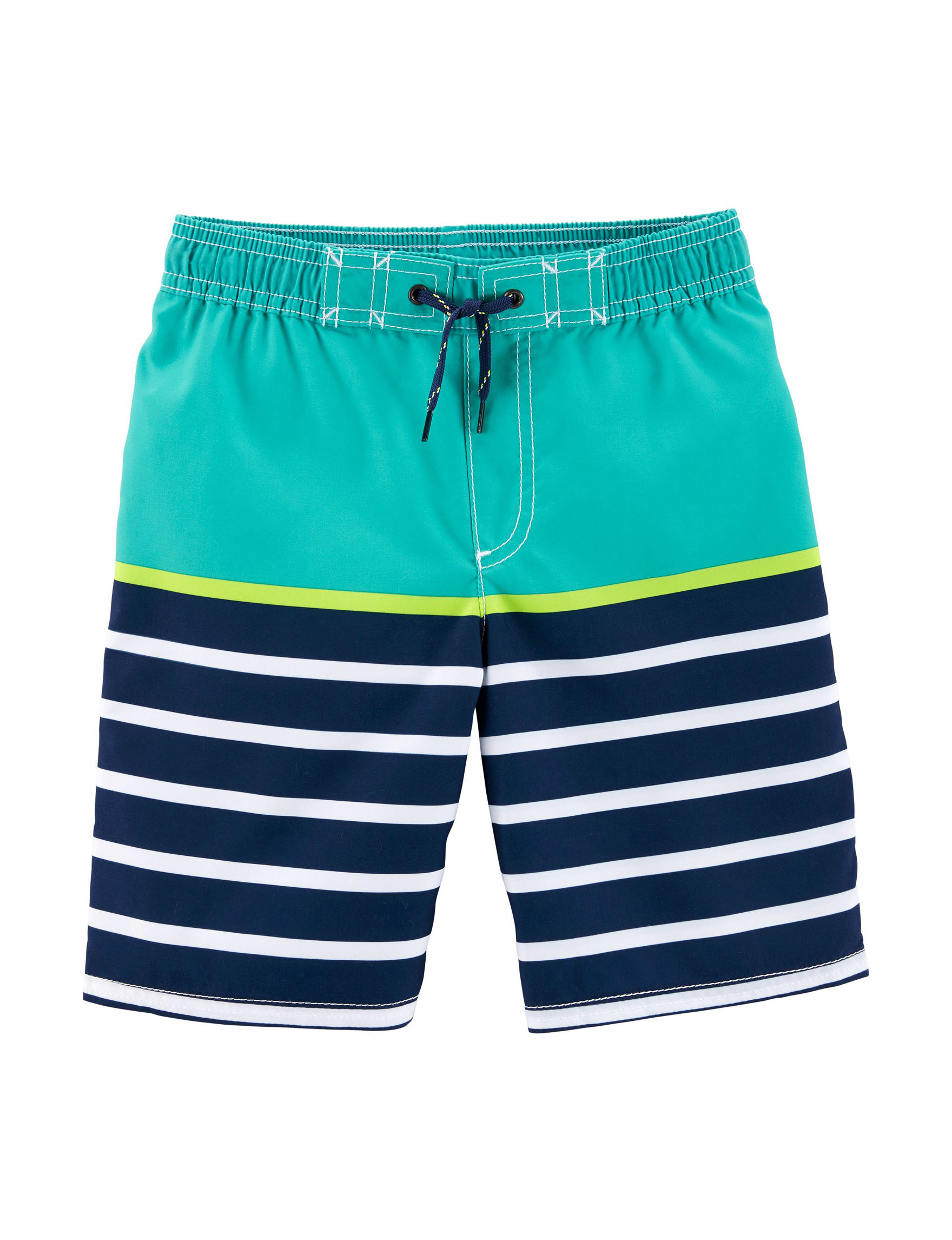 Carter's Turquoise / Navy Swimsuit Bottoms