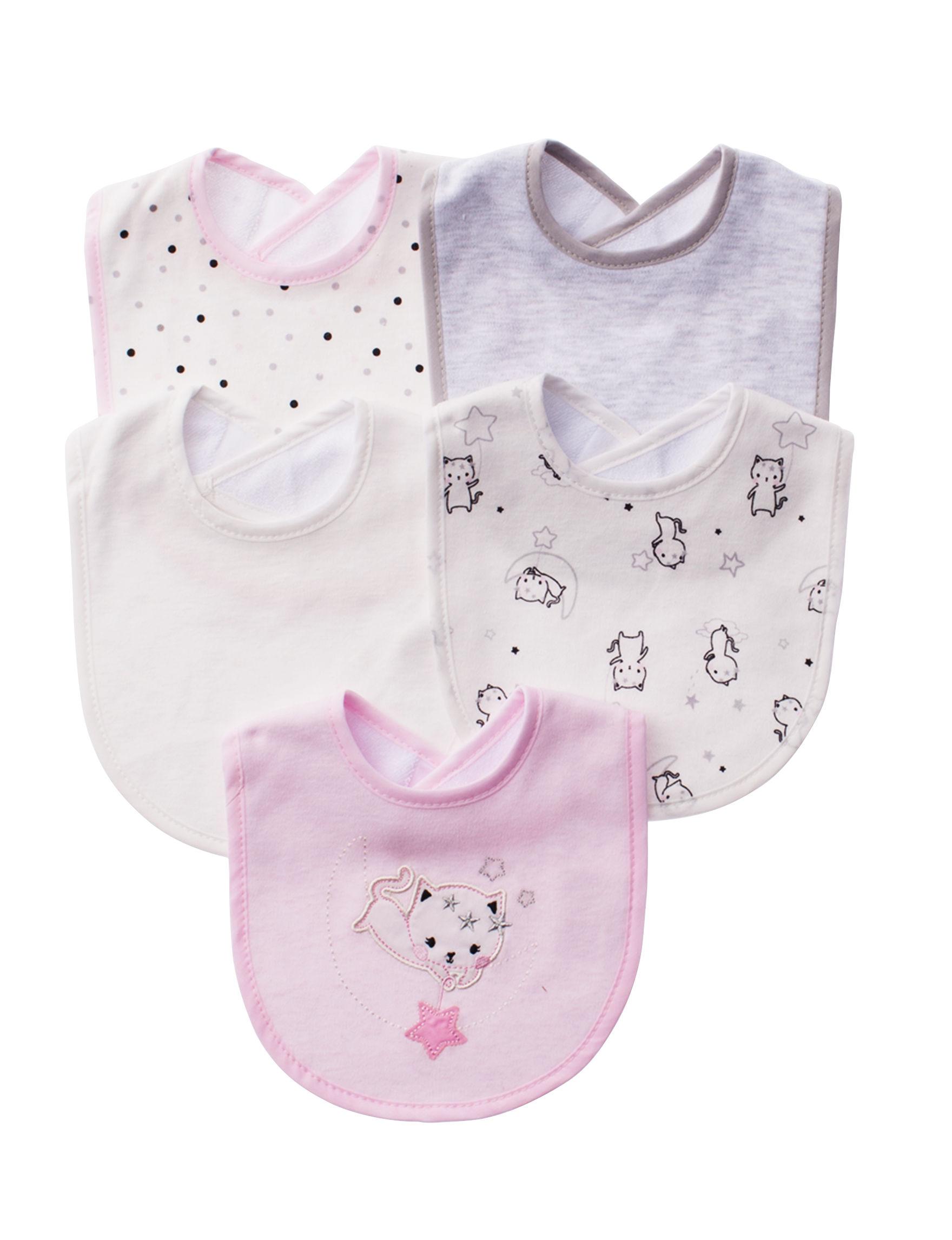 Rene Rofe Pink / White Bibs & Burp Cloths