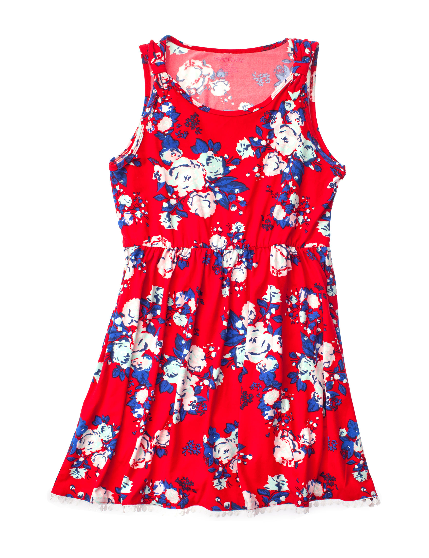 One Step Up Red Floral