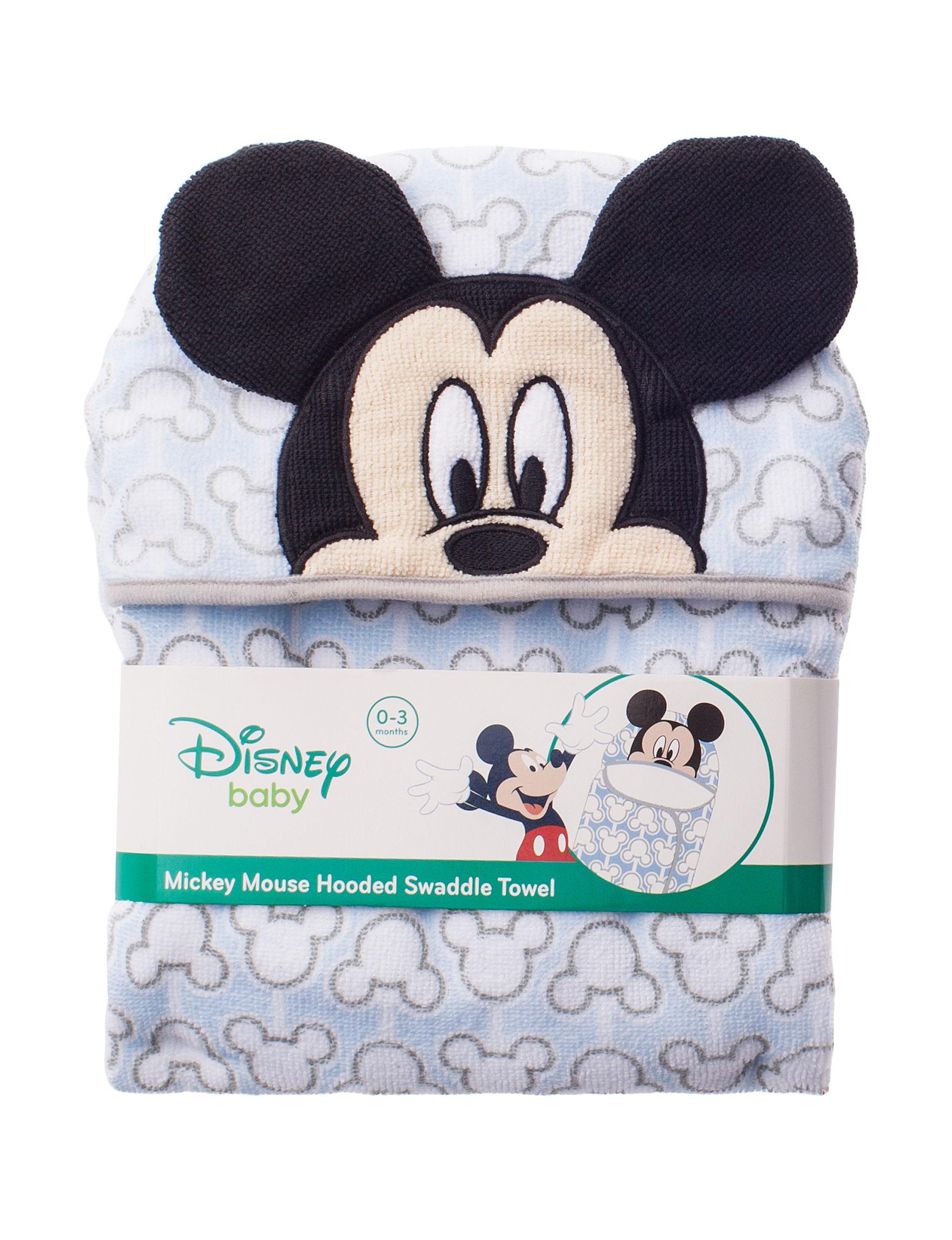 Disney Light Blue Hooded Towels