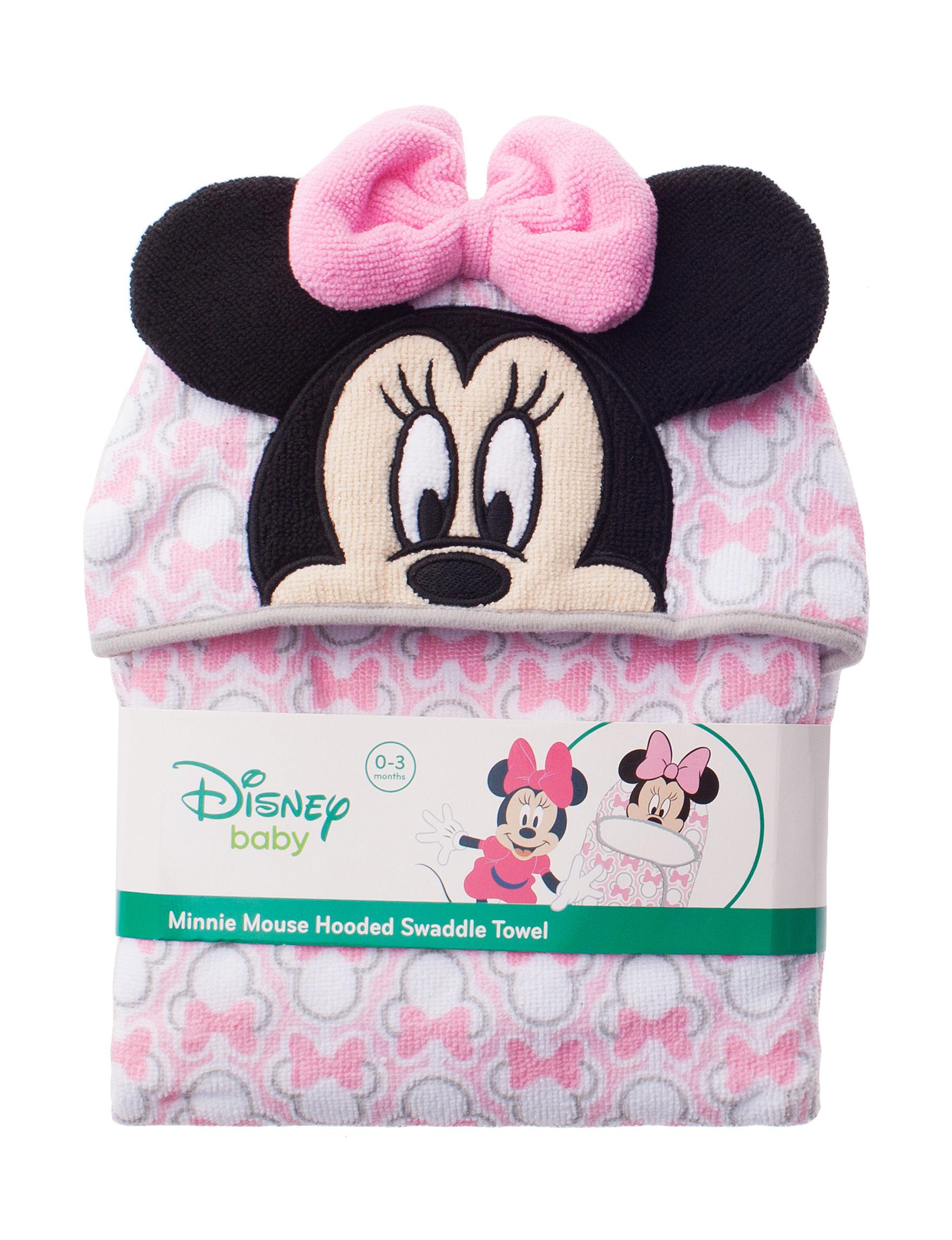 Disney Light Pink Hooded Towels