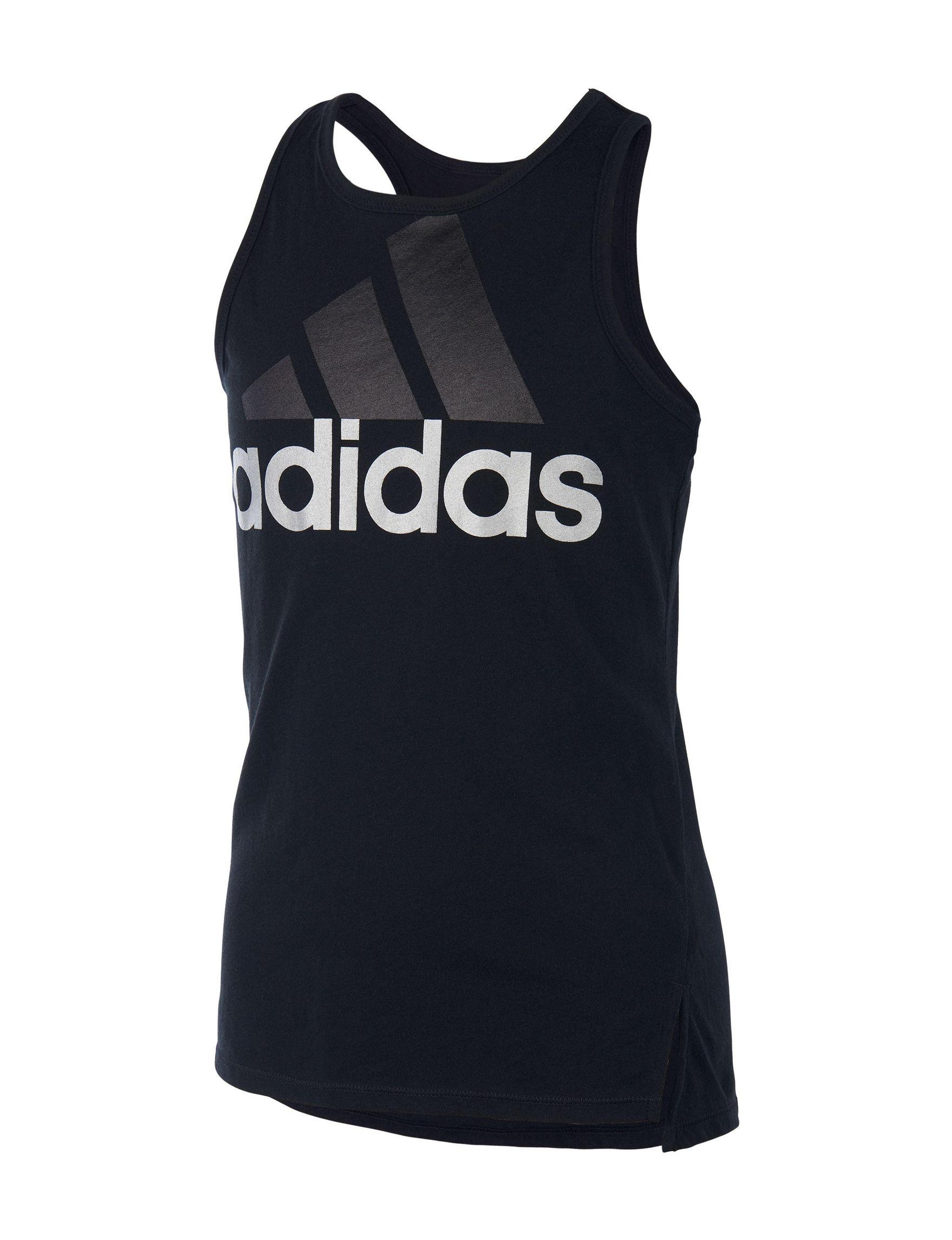 Adidas Black Tees & Tanks