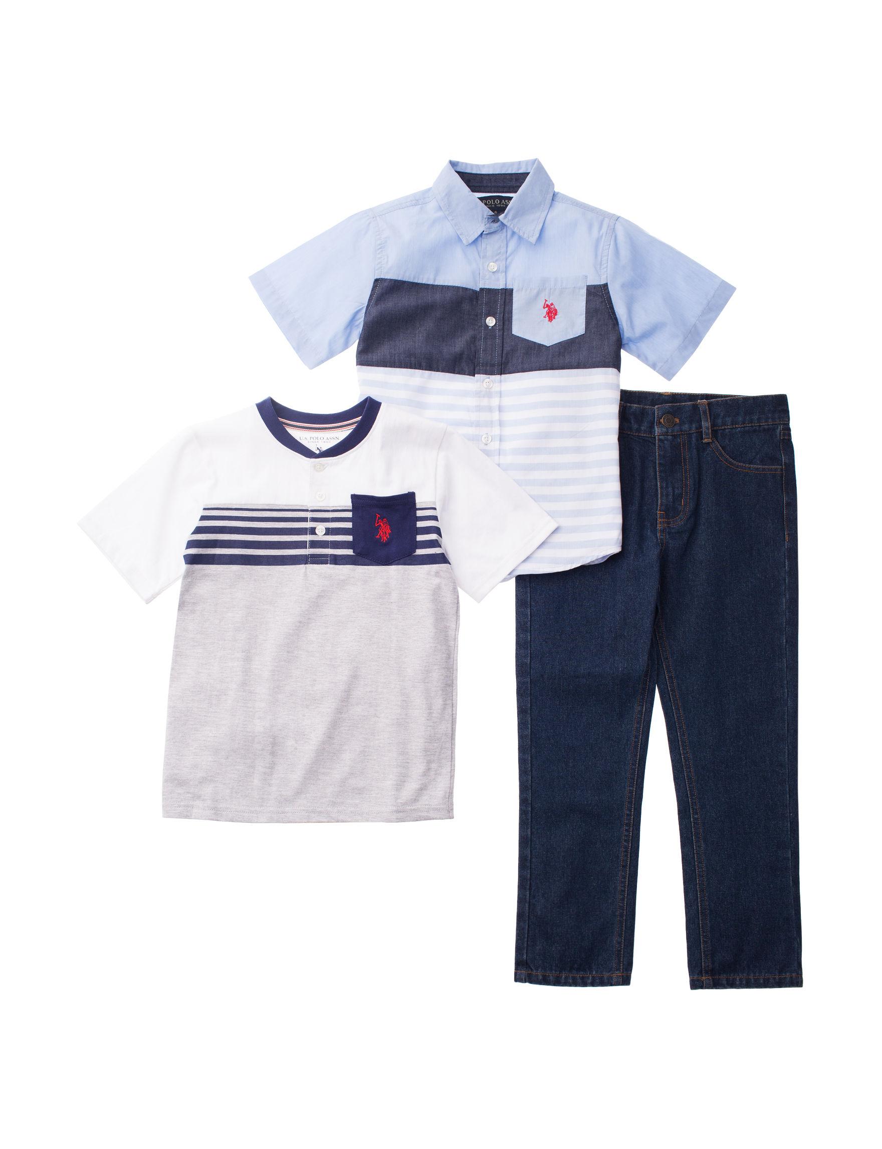 U.S. Polo Assn. Blue / Grey
