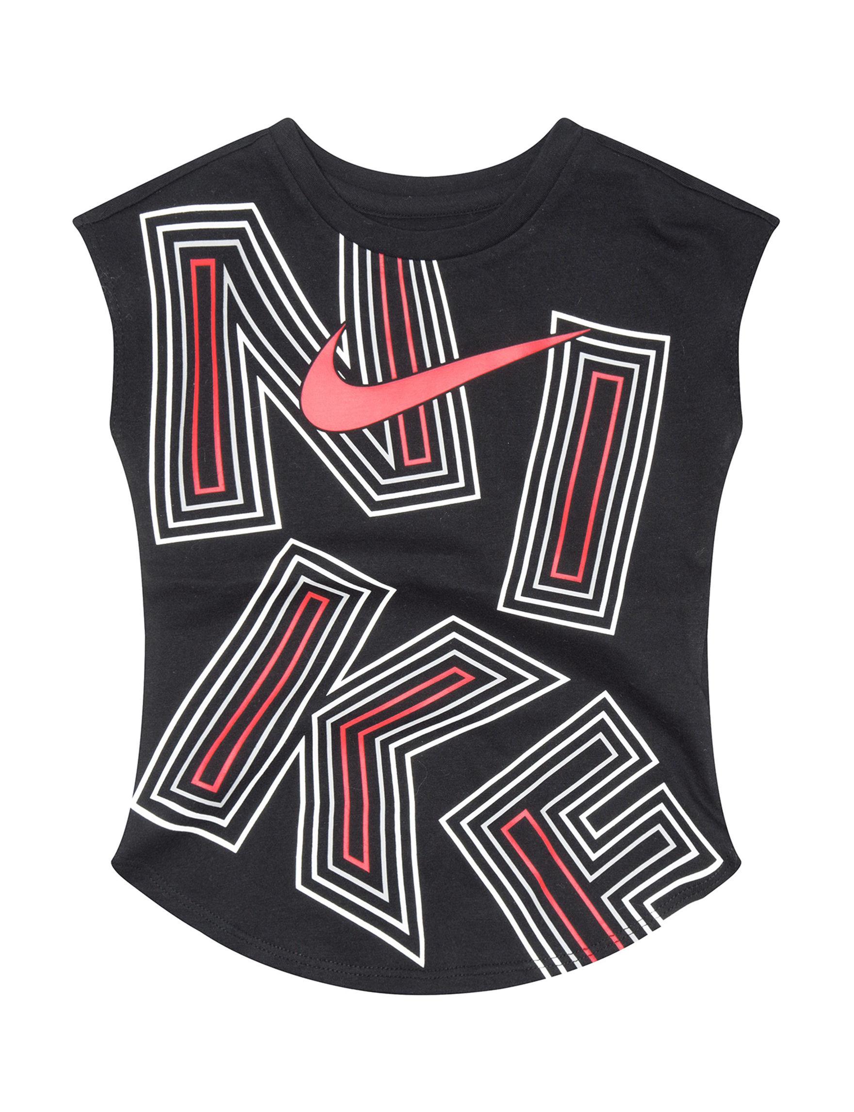 Nike Black / Multi Tees & Tanks