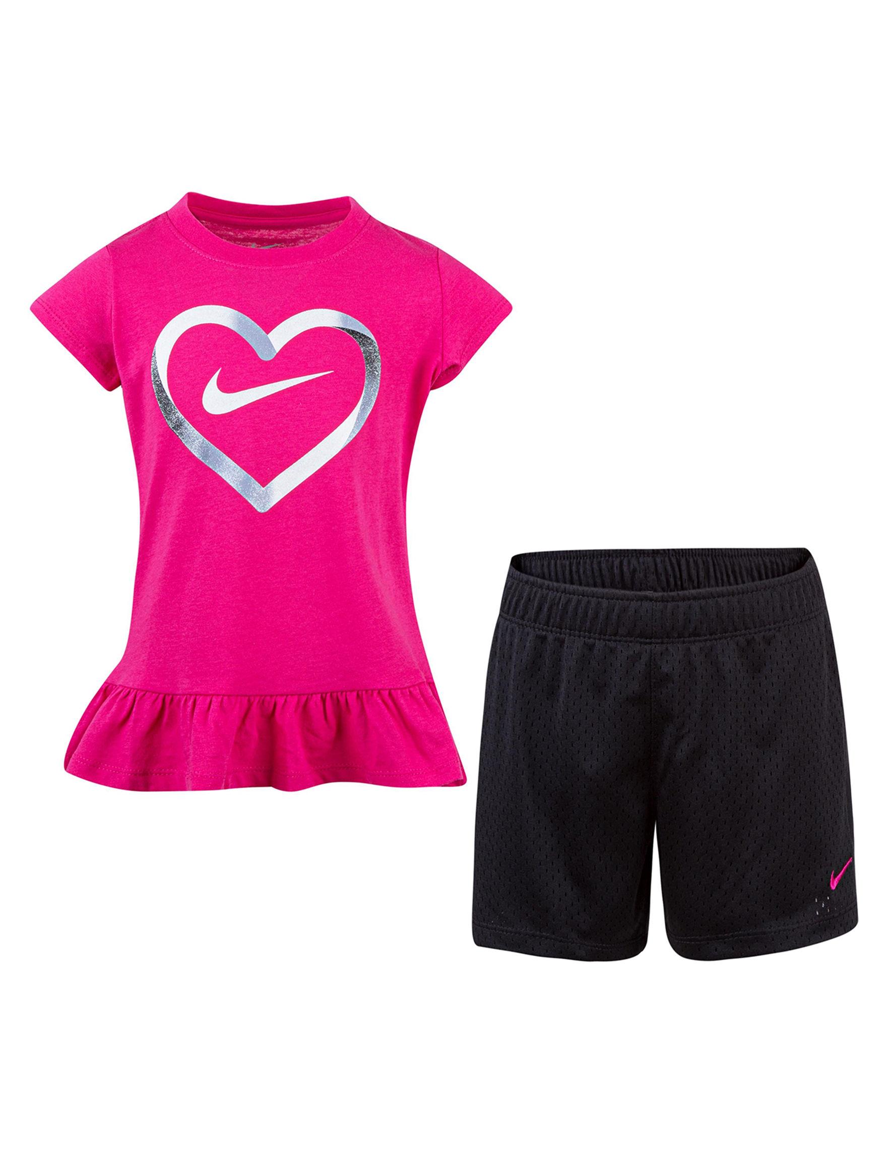 494ace9cd3 Nike 2-pc. Foil Heart Swoosh Tunic Top & Mesh Shorts Set - Toddlers & Girls  4-6x