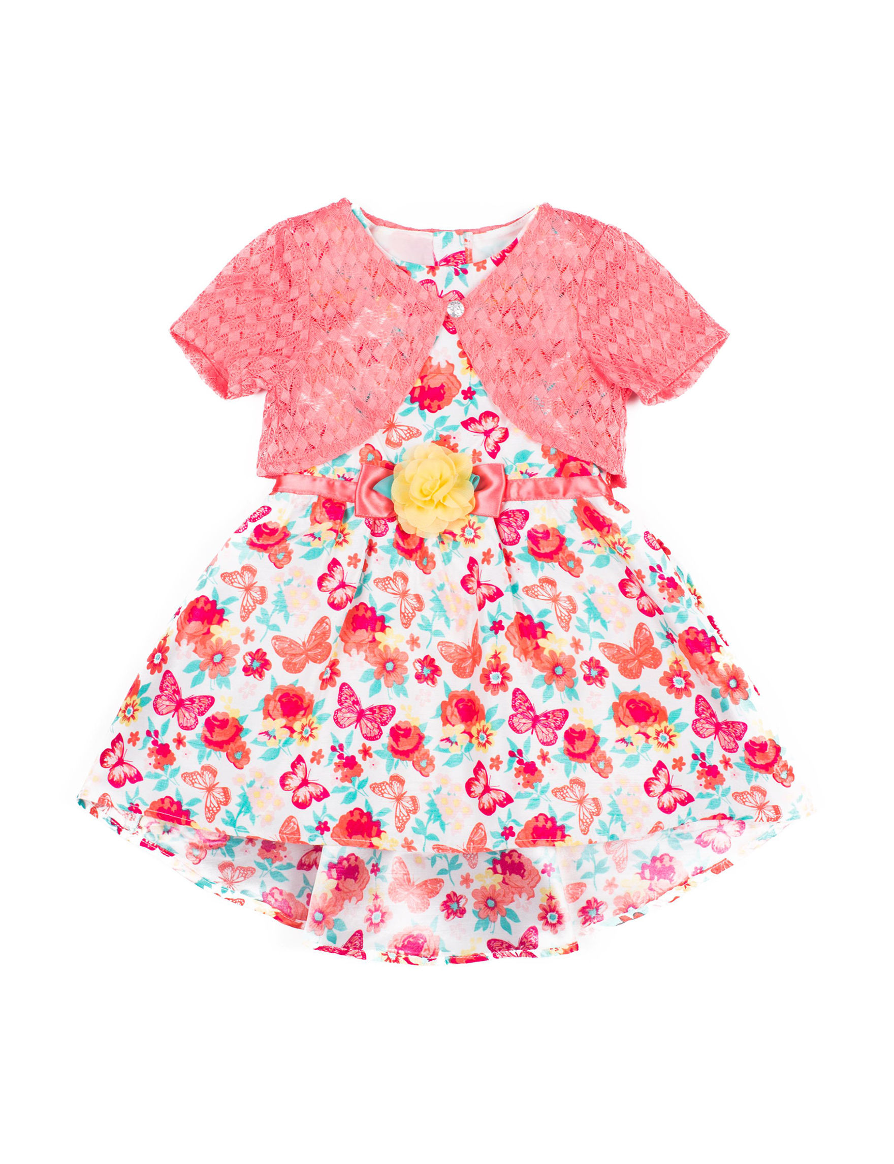 8b40e5149943 Little Lass Floral   Butterfly Hi-Lo Dress with Shrug - Toddlers   Girls ...