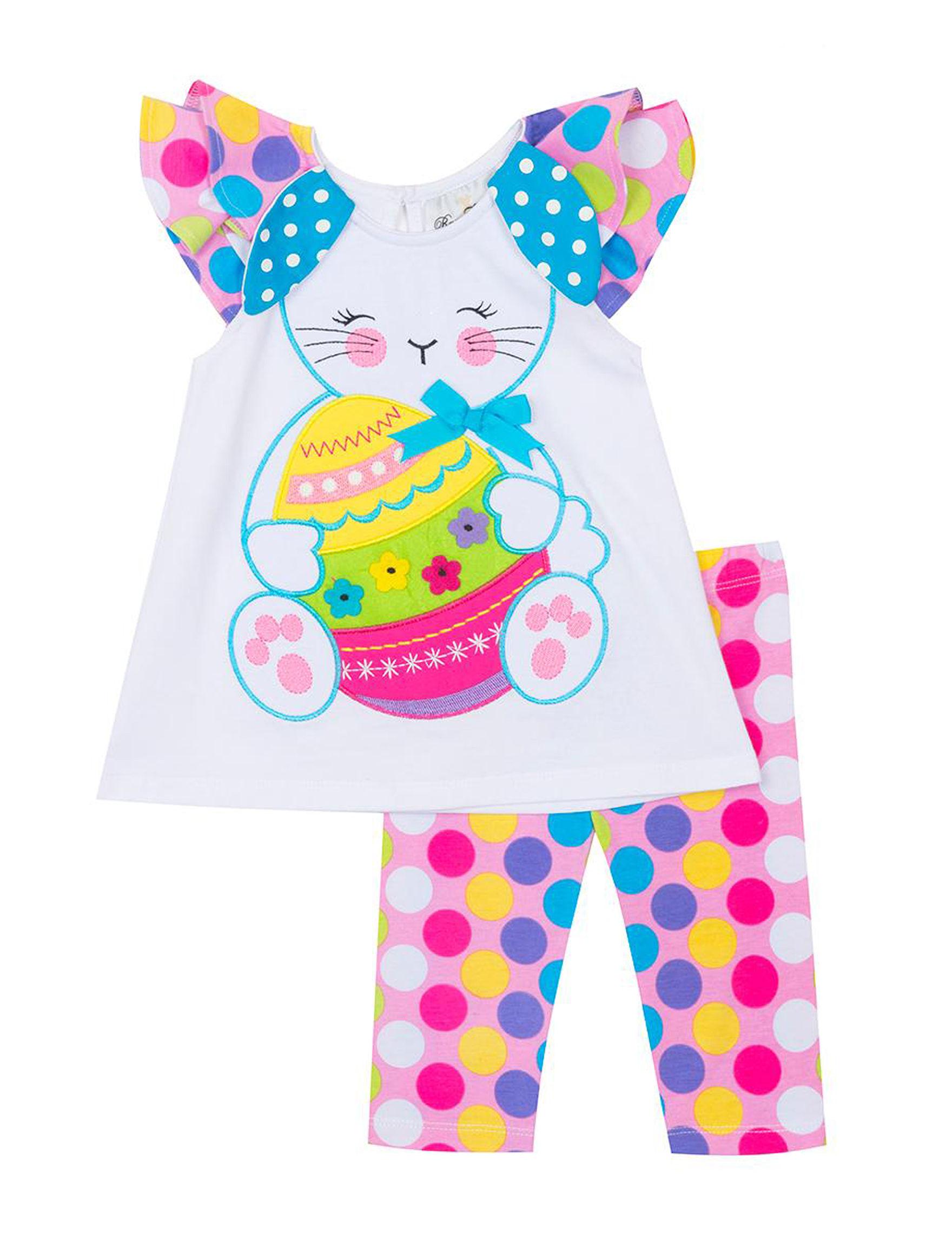 d82e575e94b8 Rare Editions 2-pc. Easter Bunny Polka-Dot Top & Capri Pants Set - Toddlers  & Girls 5-6x