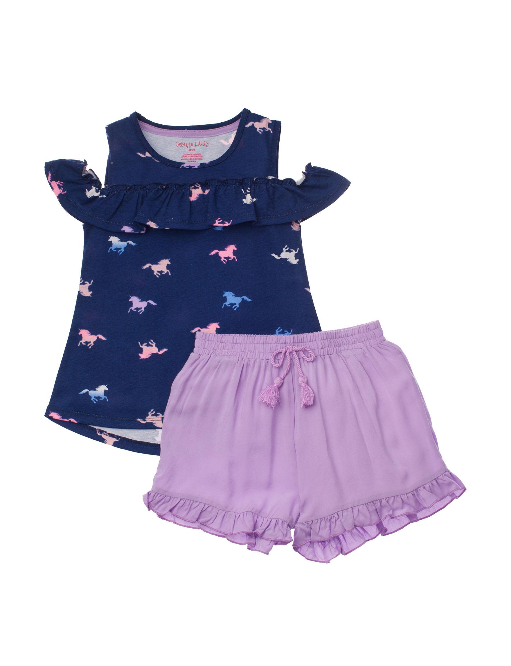 Colette Lily Navy / Purple