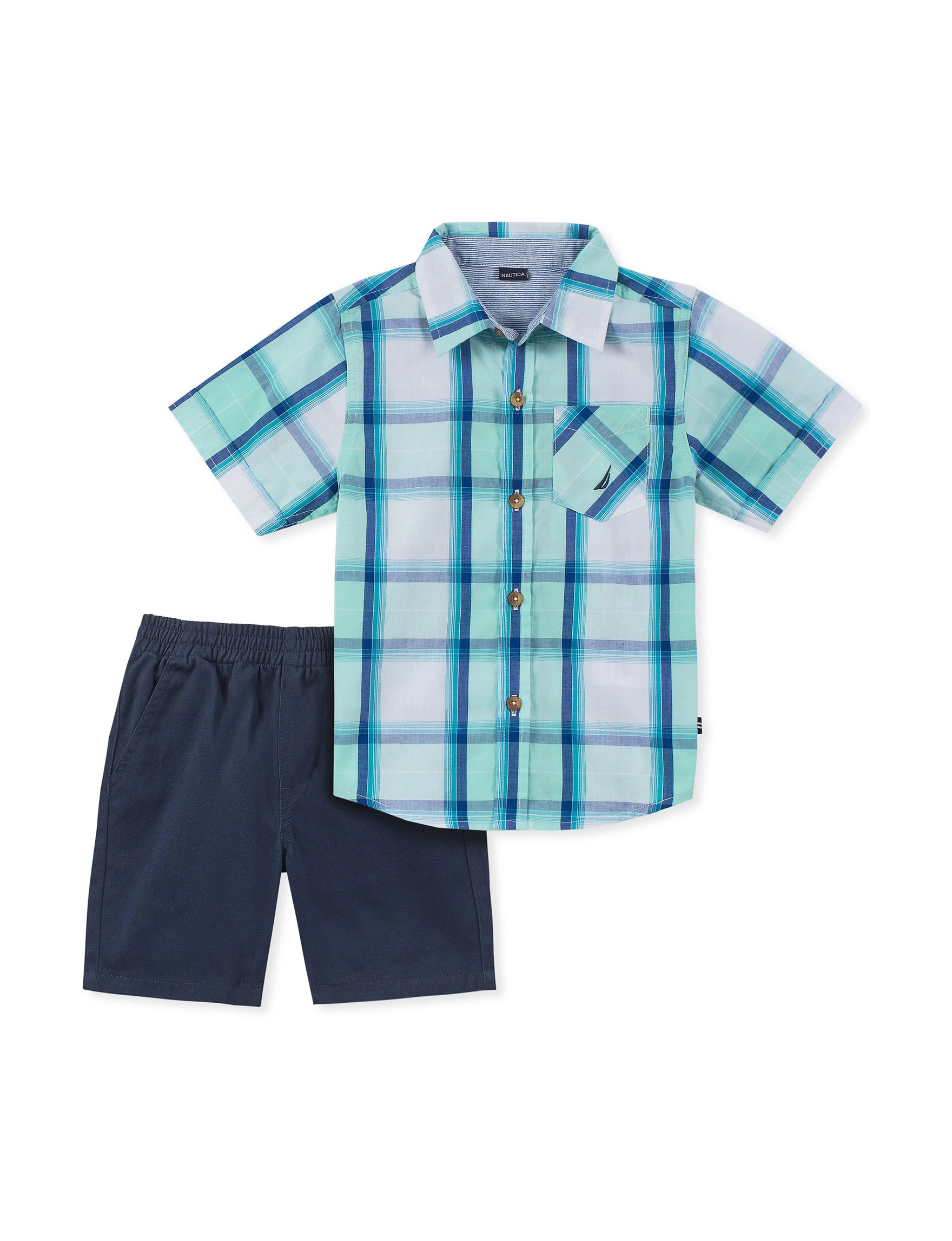 Nautica Mint Plaid