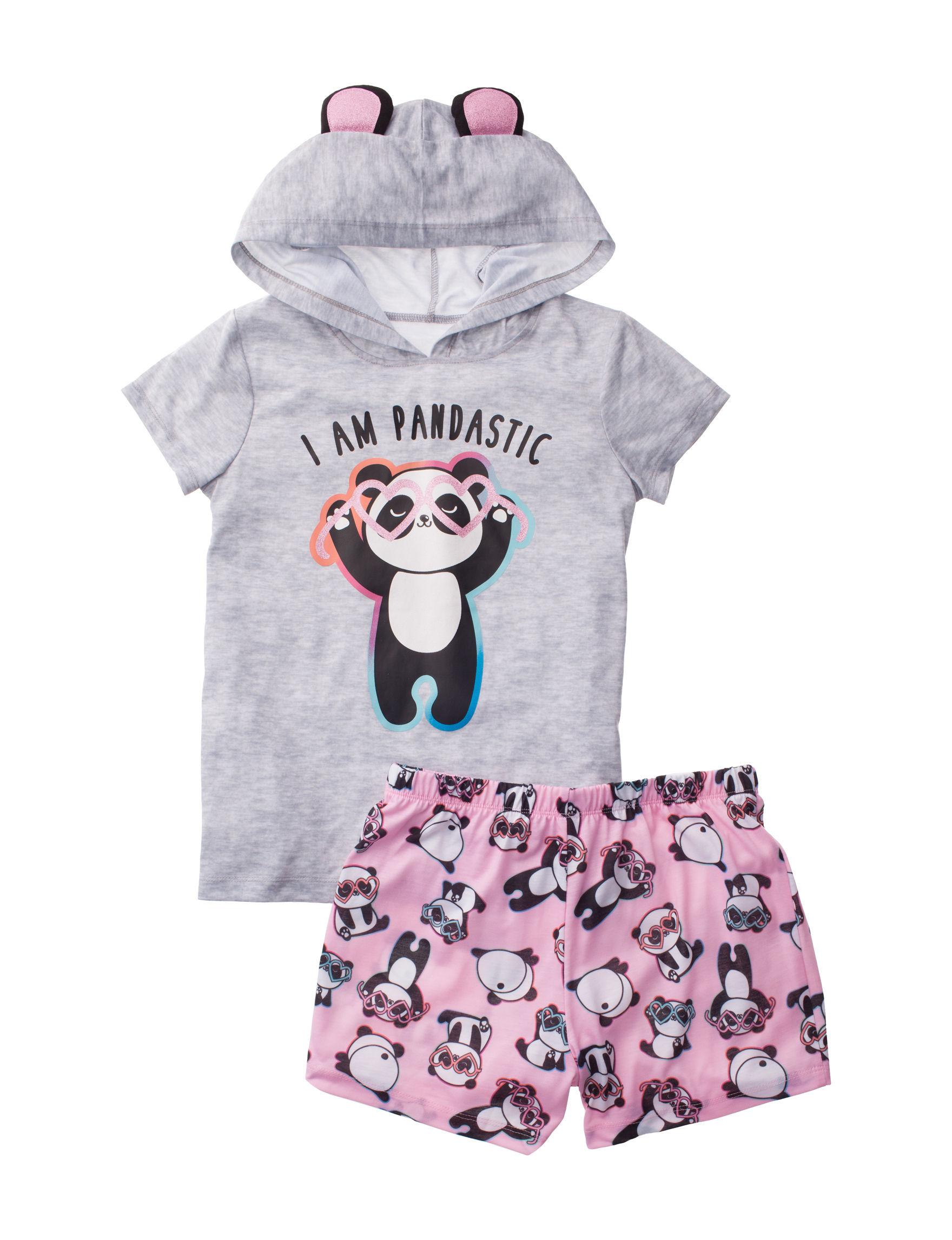 Peace Love & Dreams Grey / Pink Pajama Sets