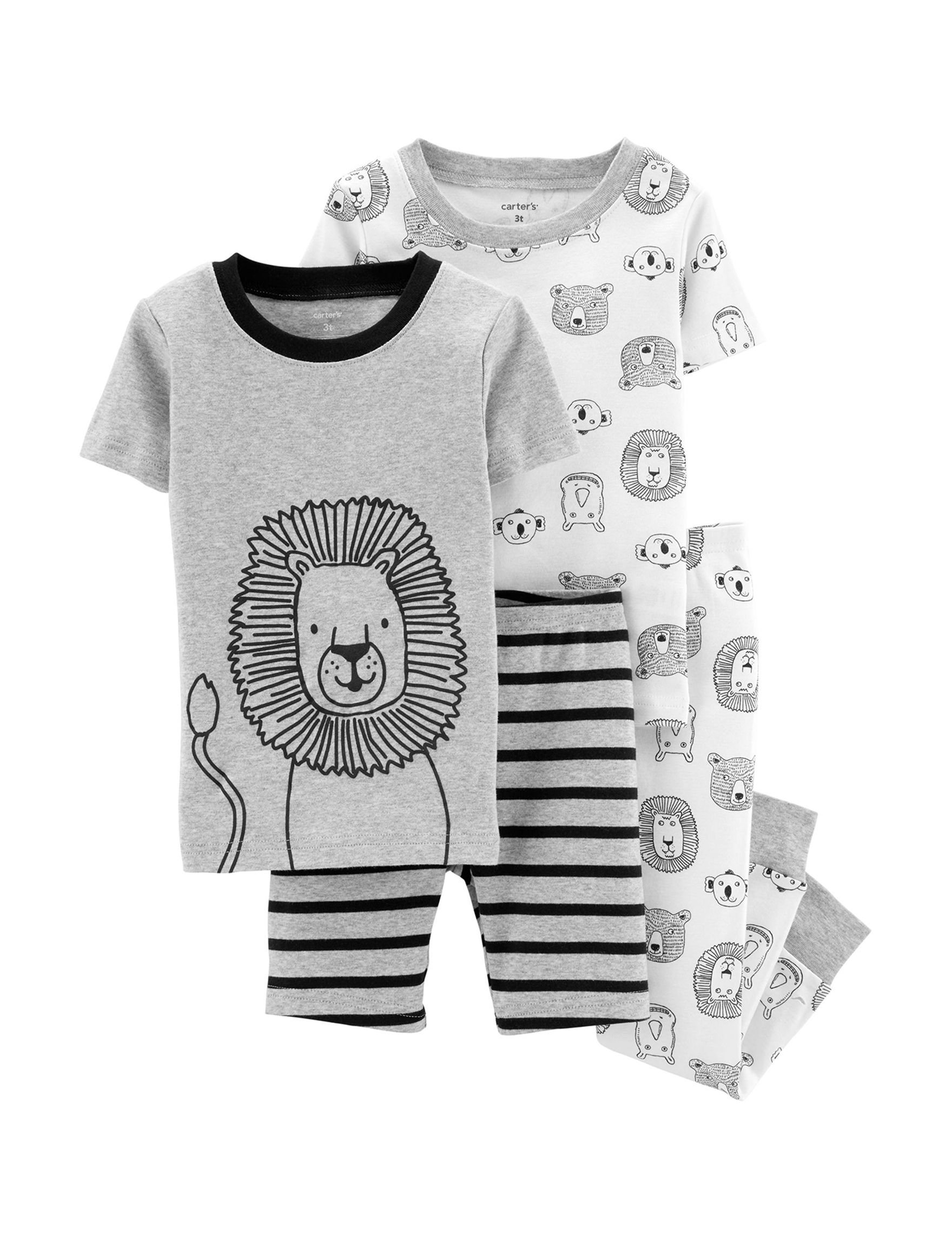 Carter's Grey / White Pajama Sets