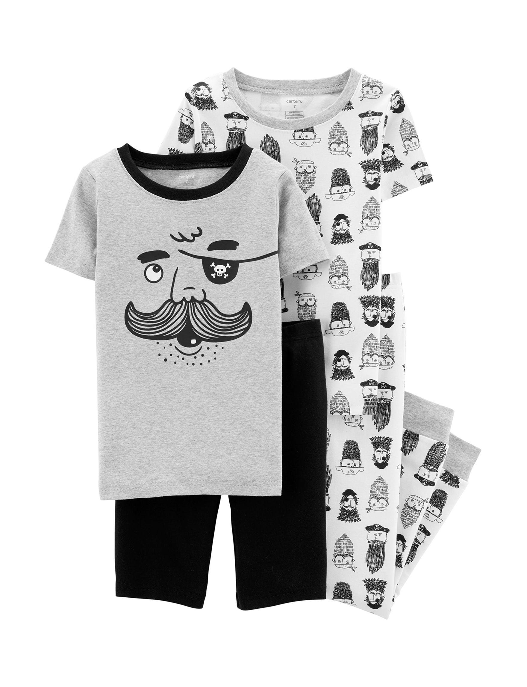 Carter's Grey / Black Pajama Sets