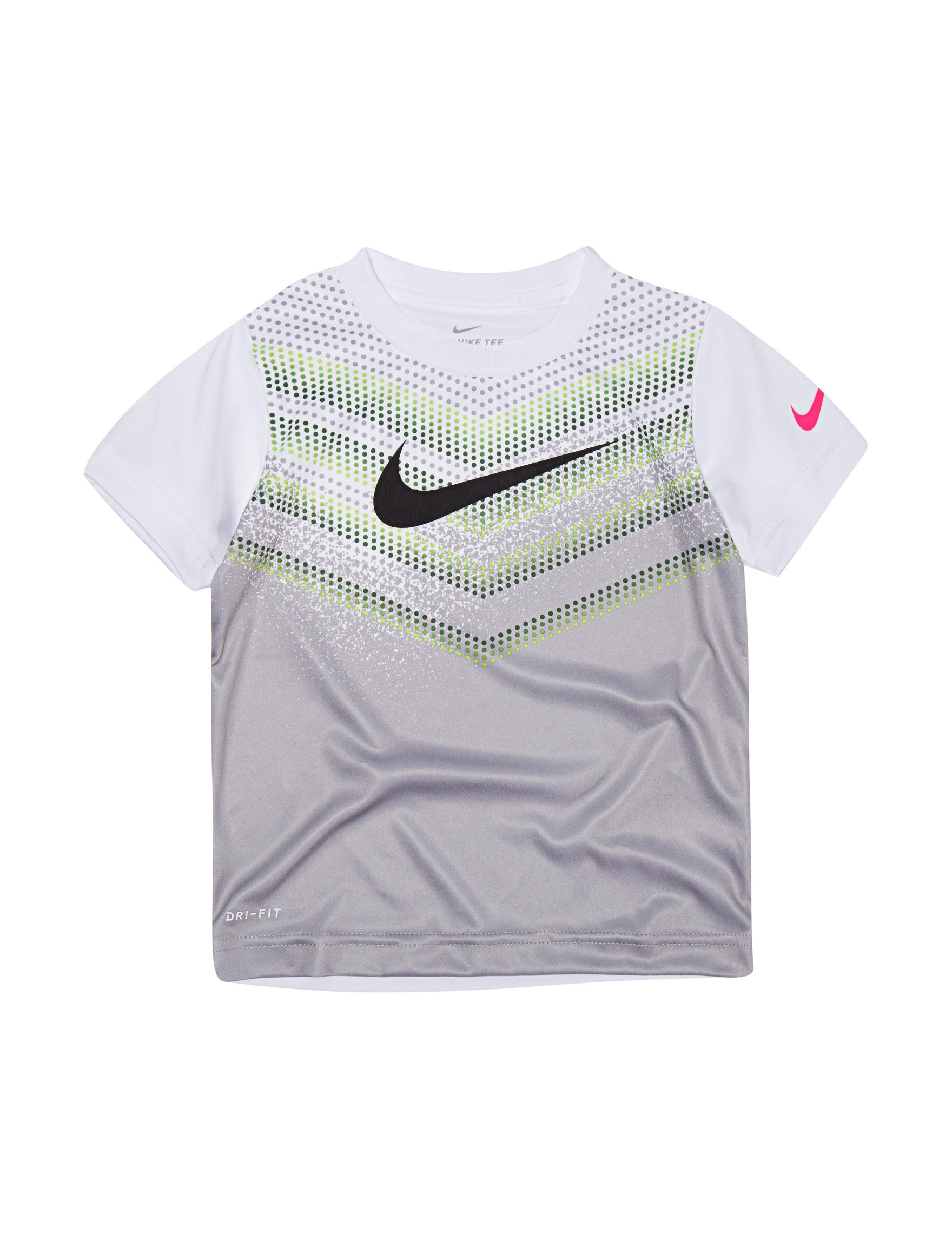 Nike White / Grey Tees & Tanks