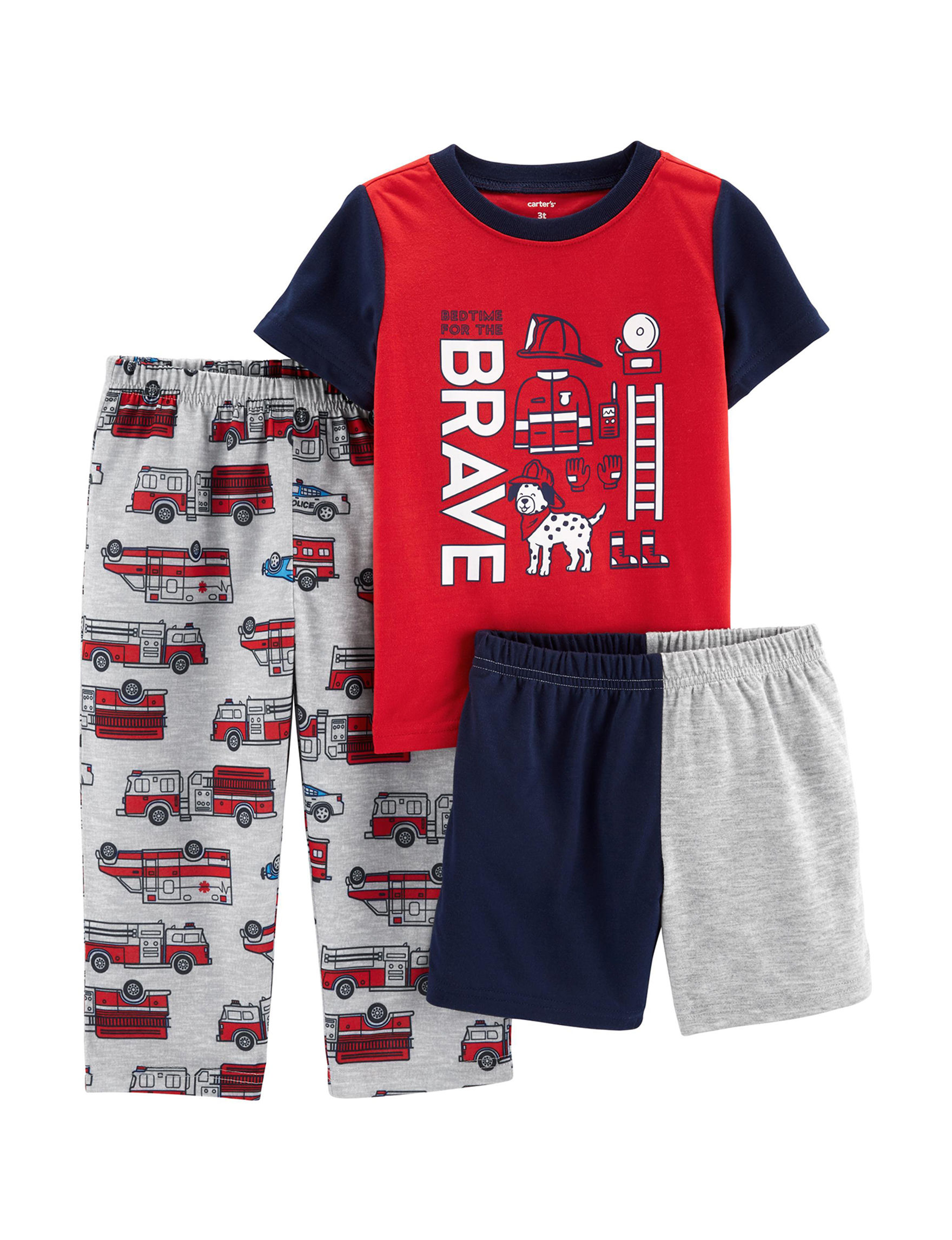 Carter's Red / Multi Pajama Sets