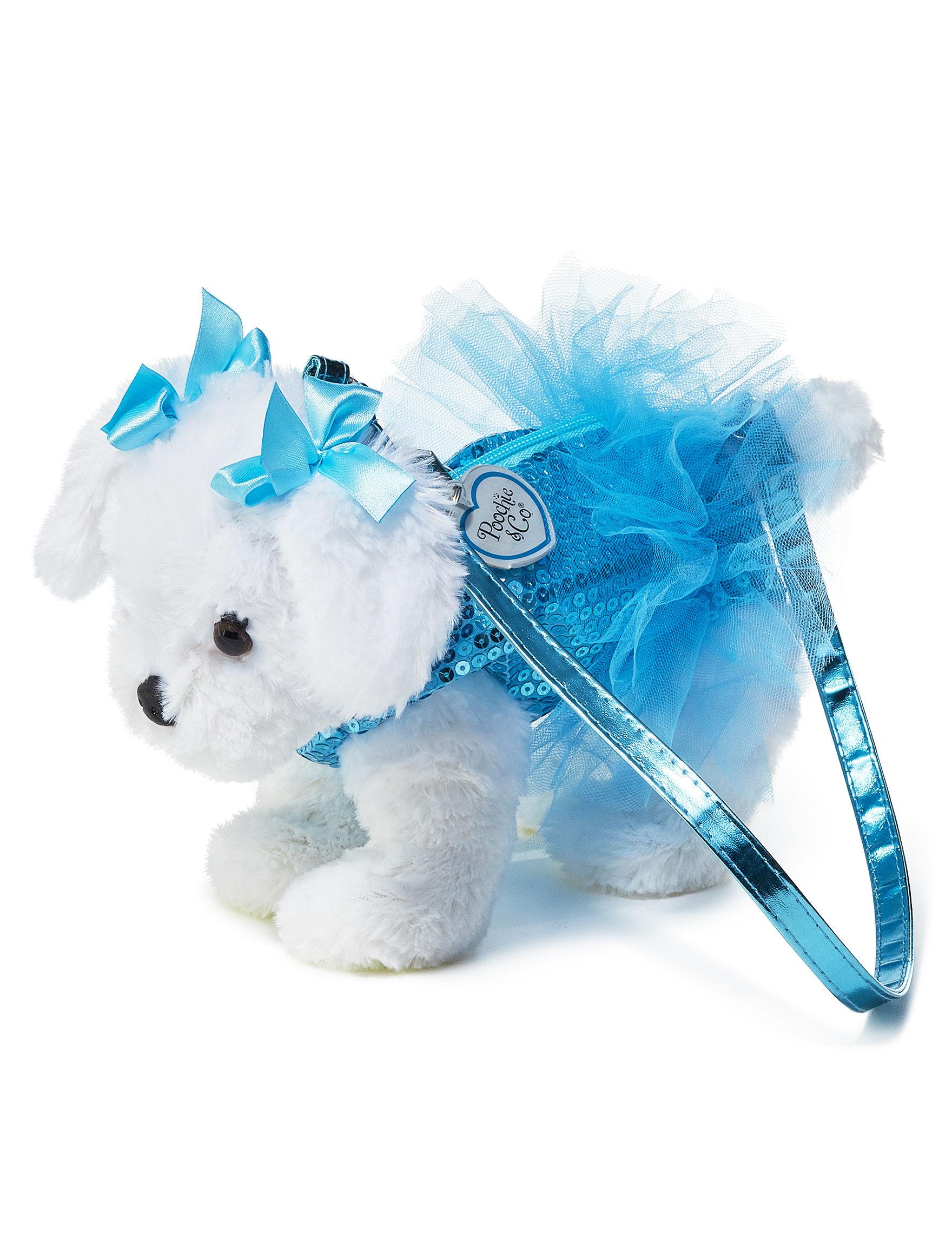 Poochie & Co. Light Blue / White