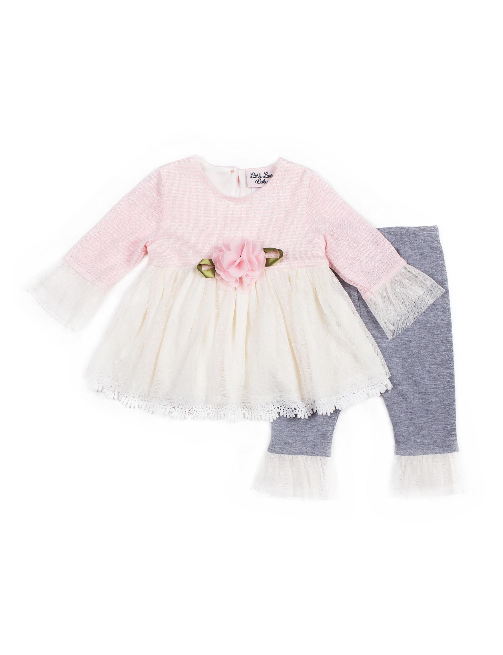 Little Lass Pink / White / Grey
