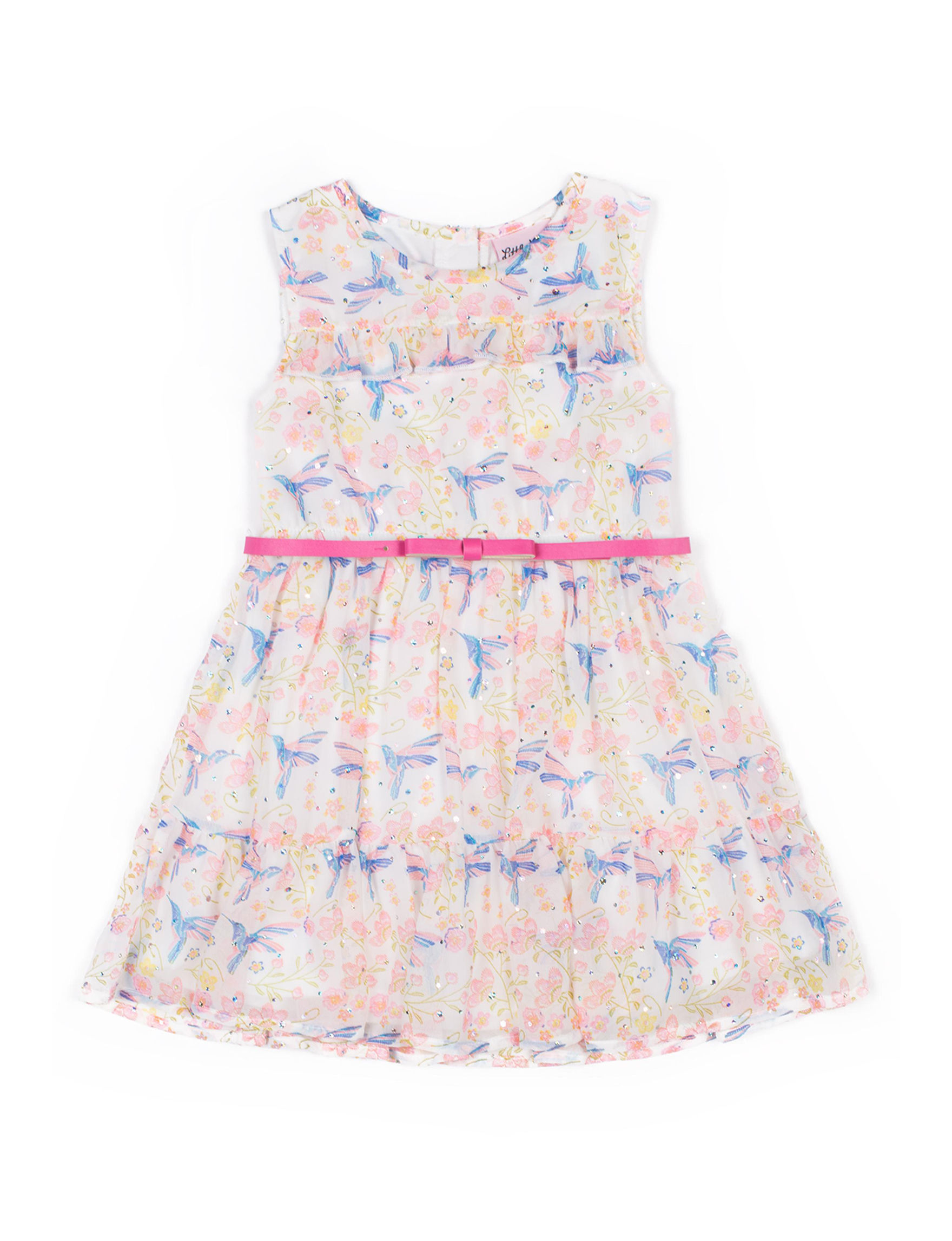 Little Lass White / Pink Multi