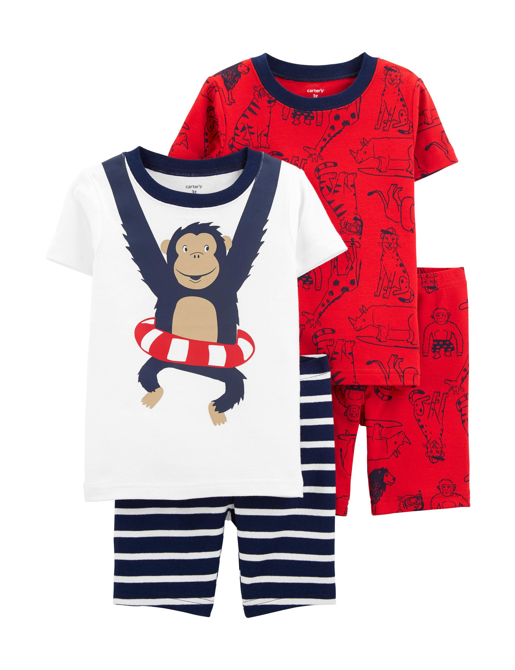 Carter's Navy / Red Pajama Sets
