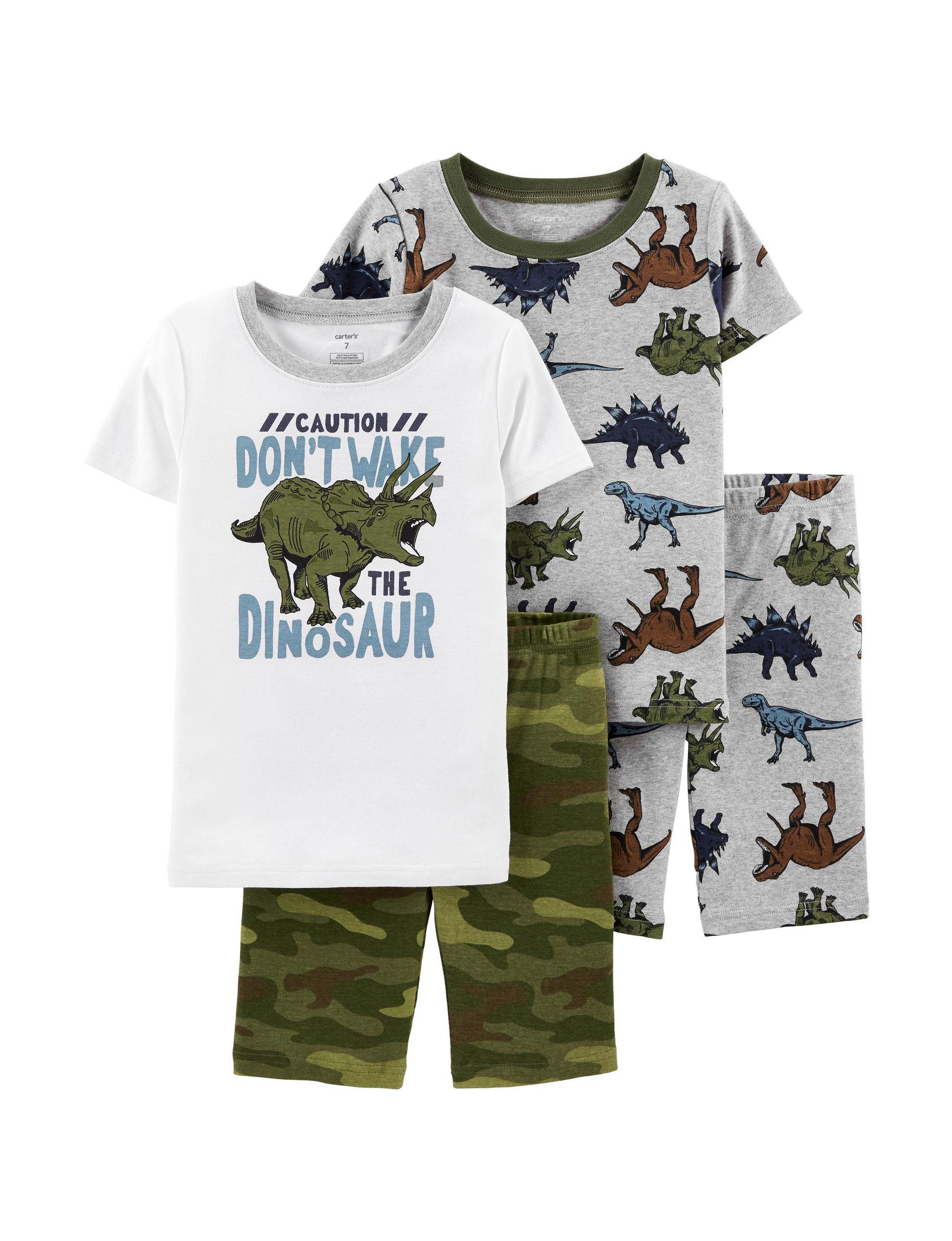 Carter's White / Multi Pajama Sets