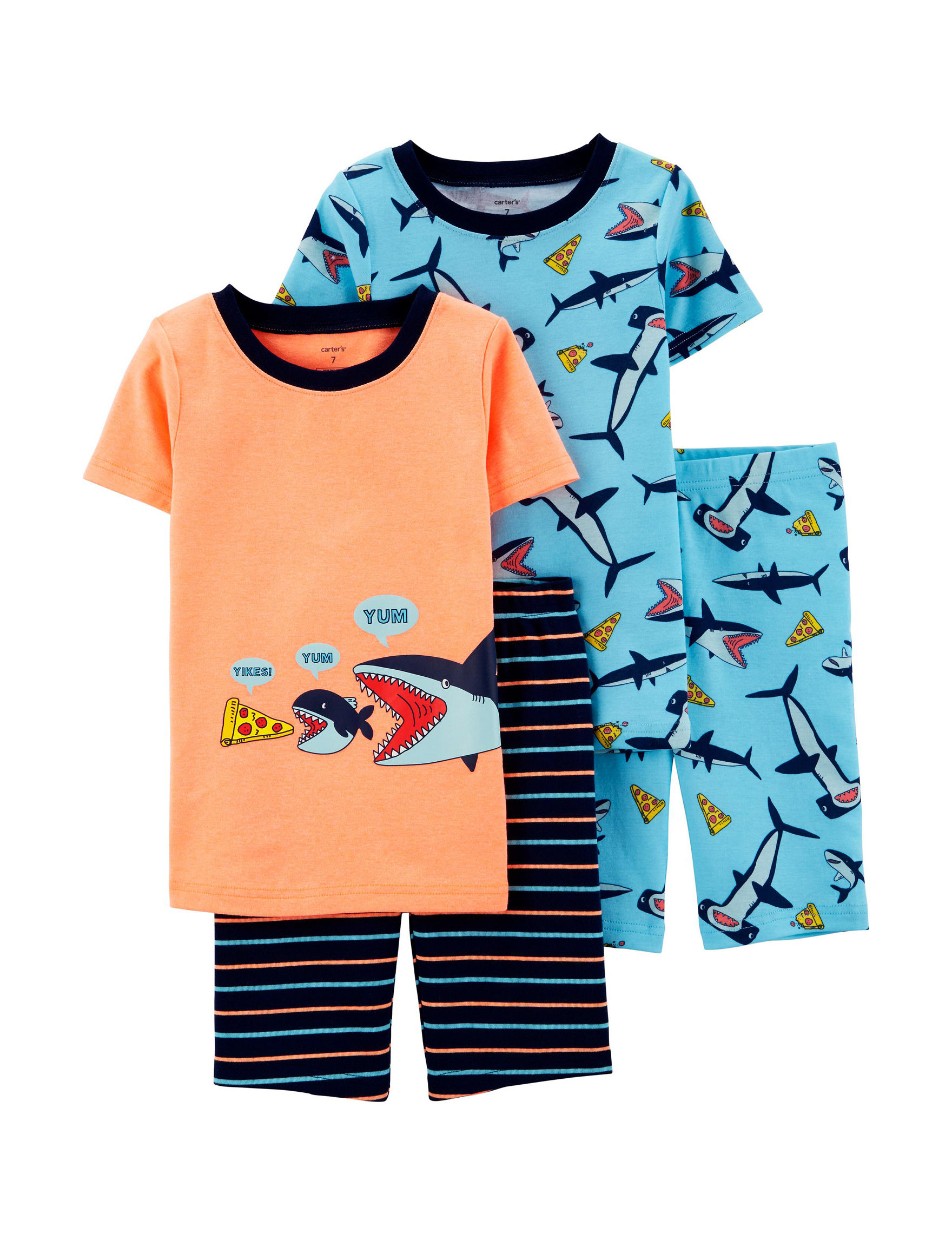 Carter's Orange / Blue Pajama Sets