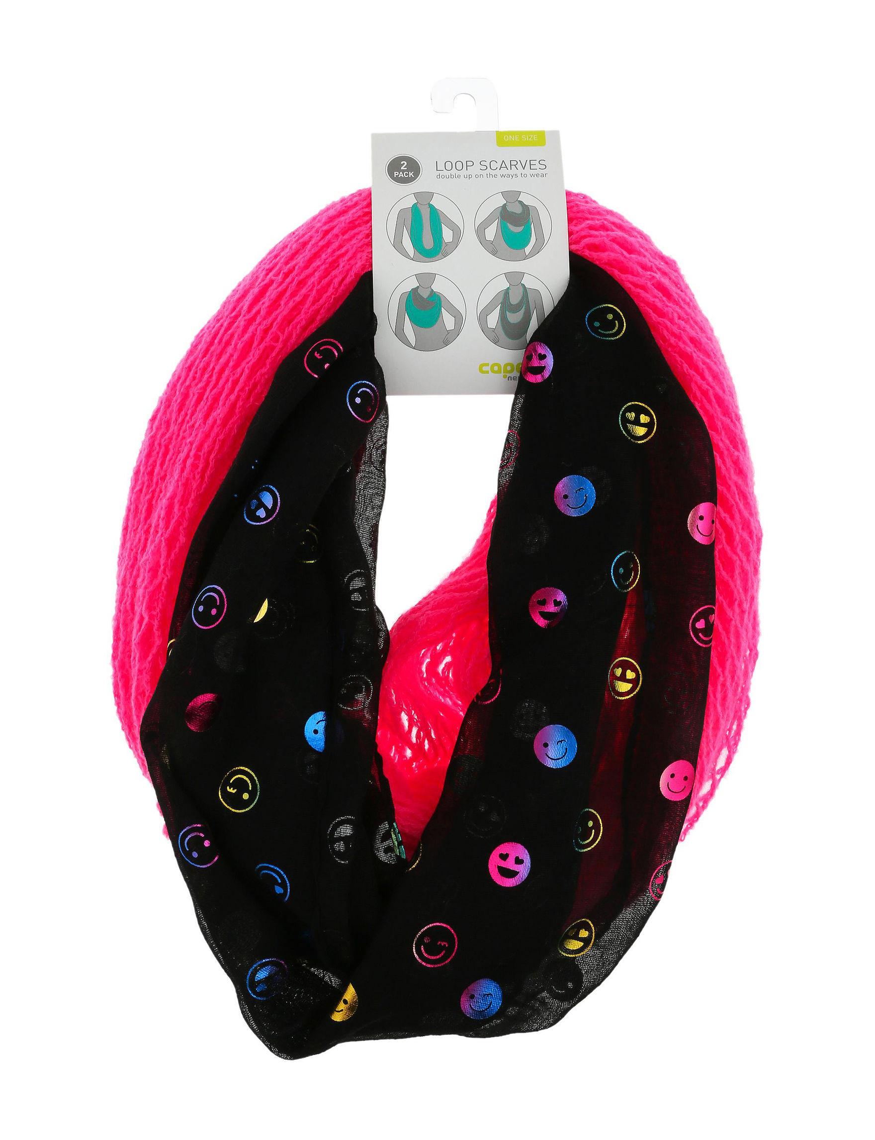 Capelli Pink / Black Hats, Gloves & Scarves