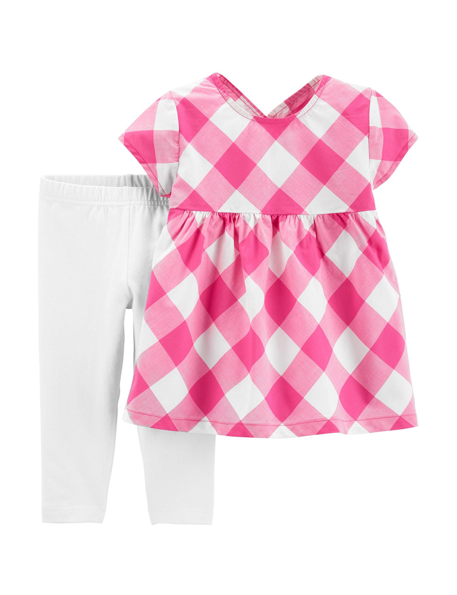 Carter's Pink / White