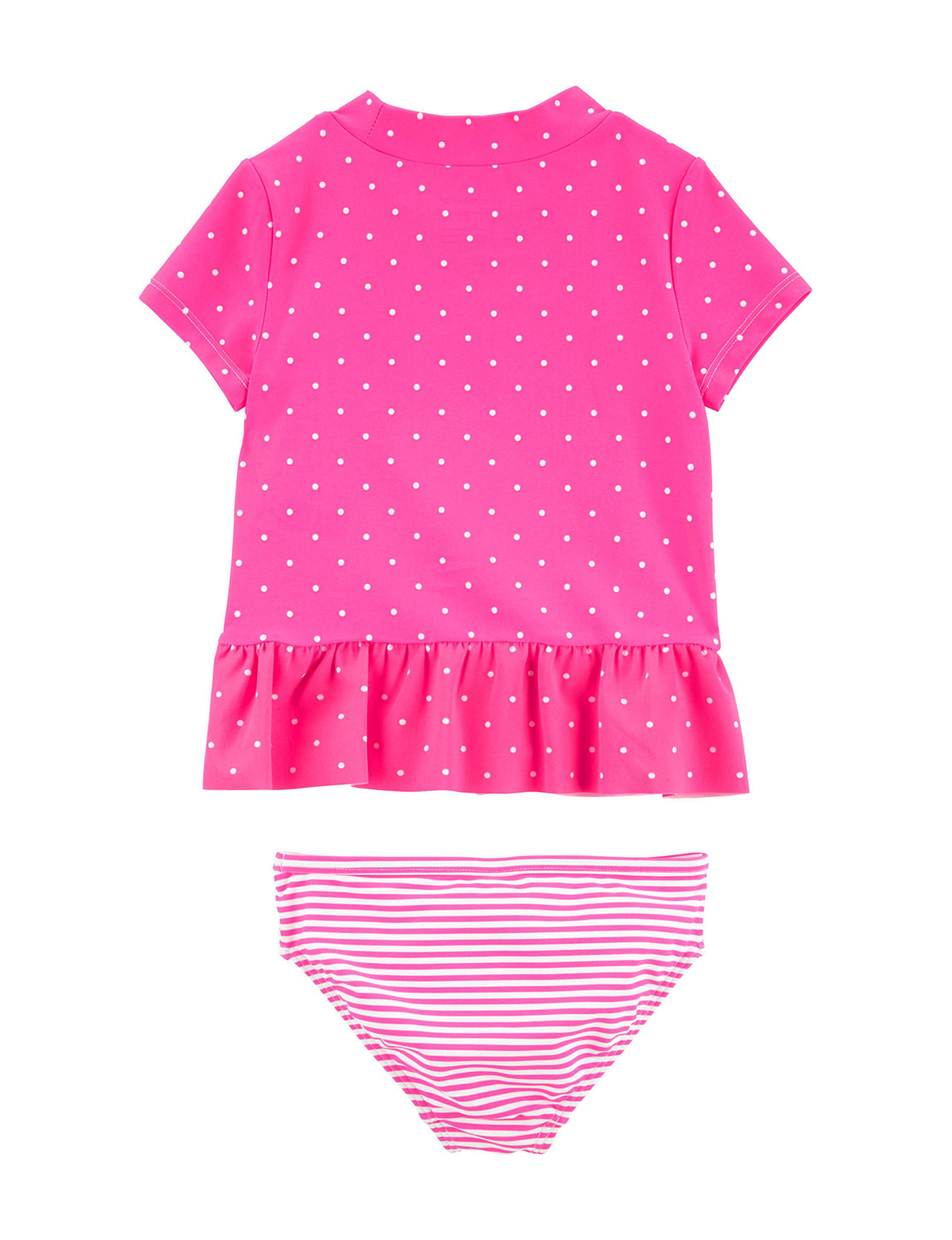 9790d92d2 Carter's 2-pc. Polka Dot Flamingo Ruffle Rashguard Swim Set - Toddler Girls