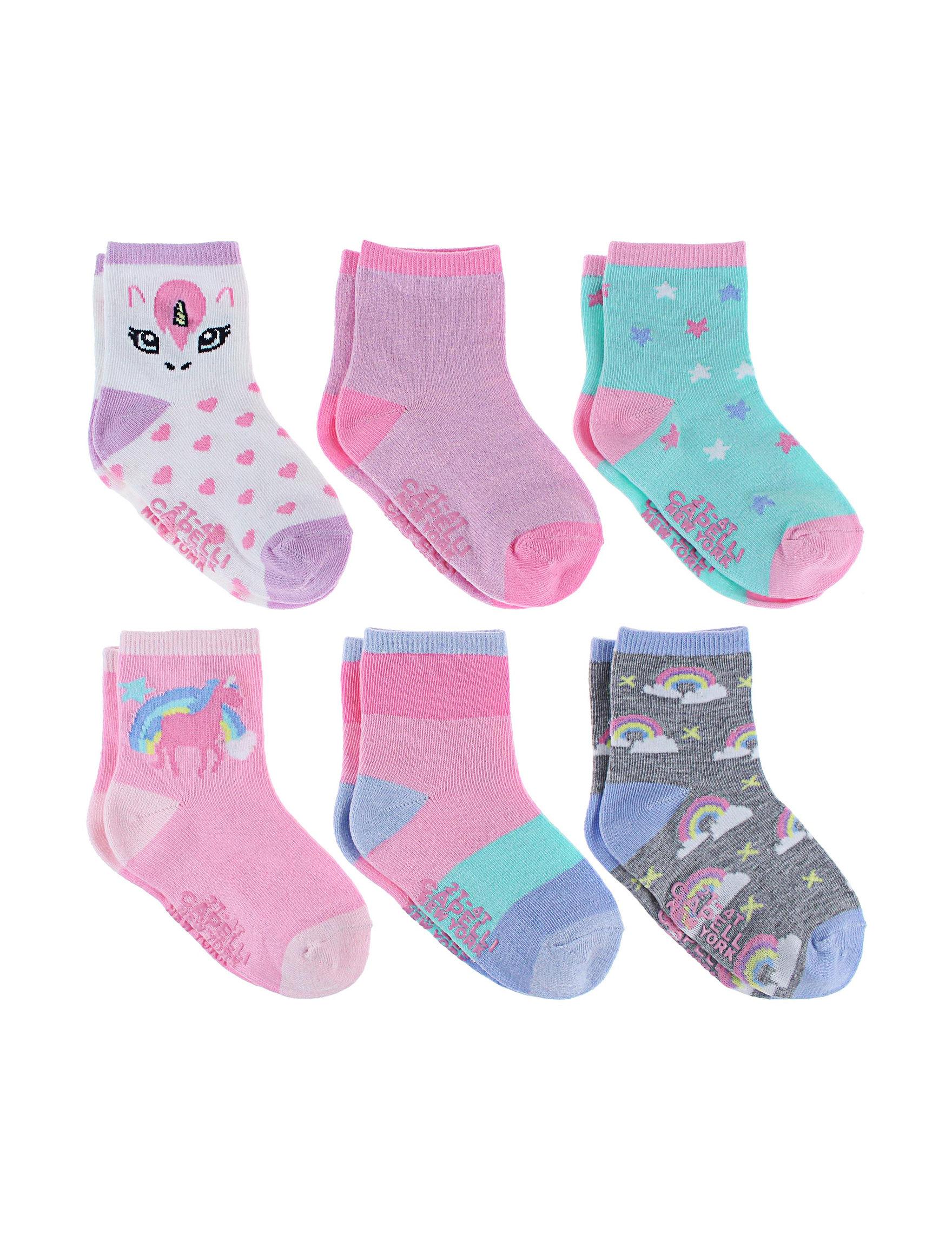 Capelli Purple Multi Socks