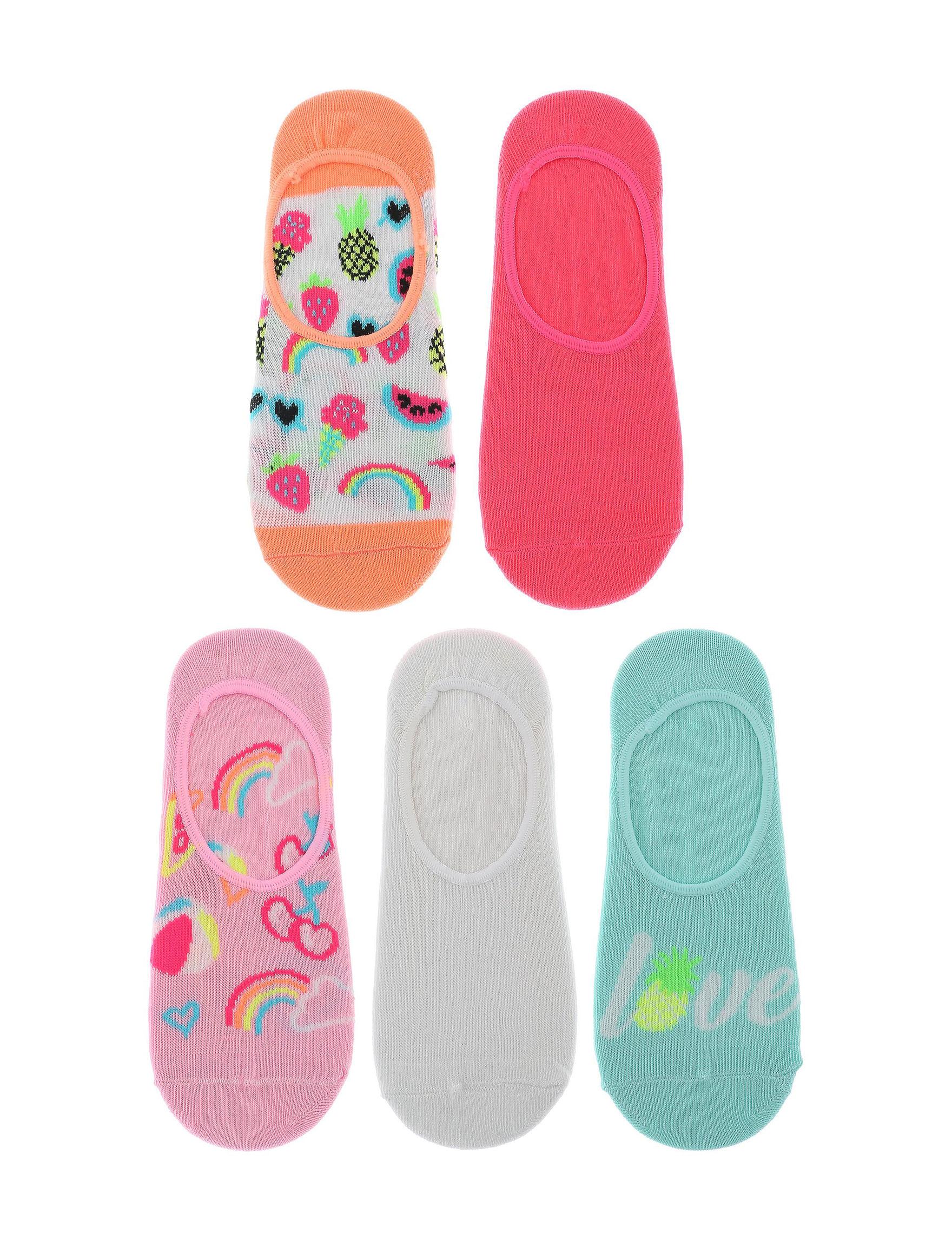 Capelli Pink Multi Socks
